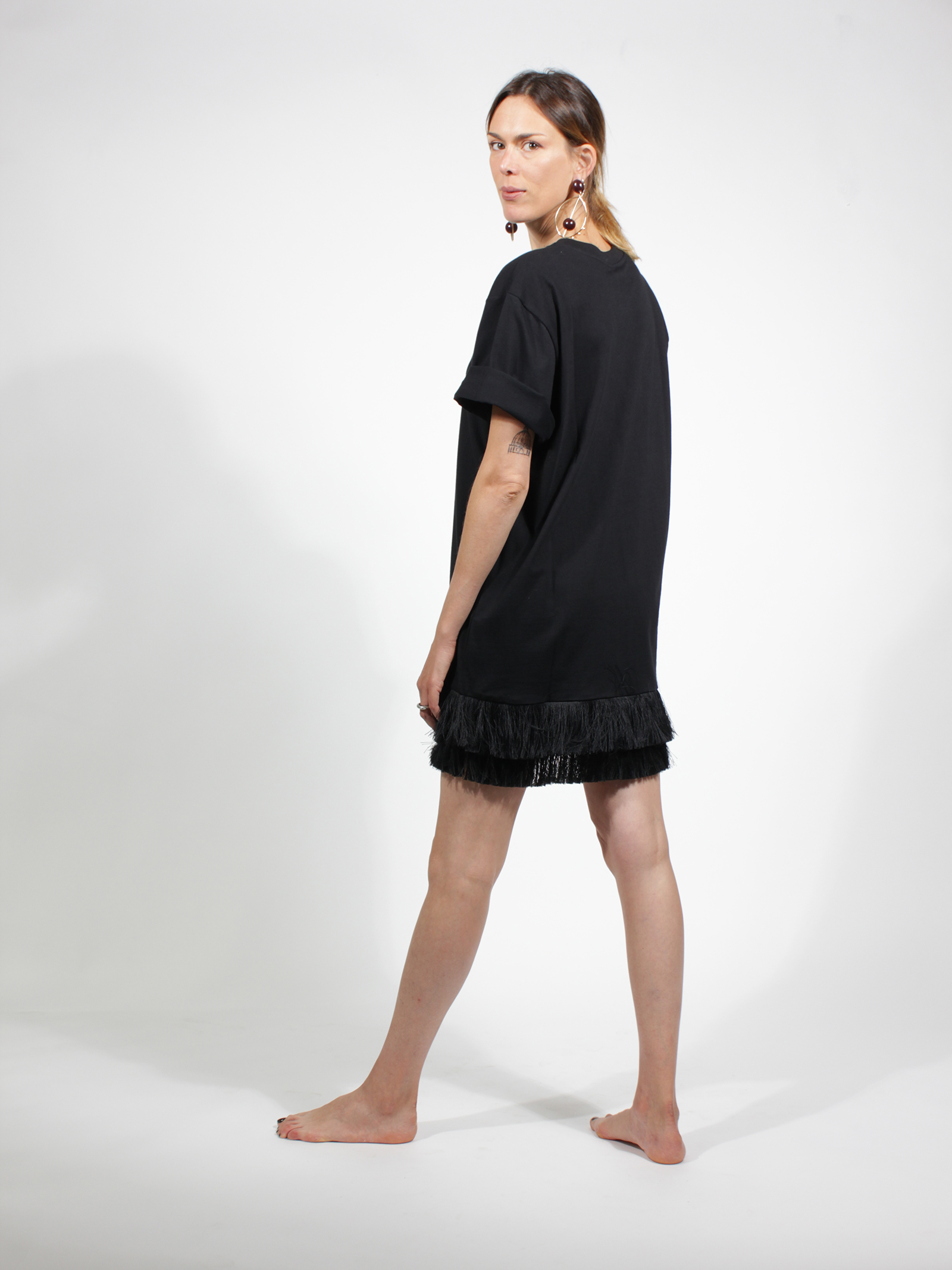 maxi t-shirt MOther of pearl | NF065568NERO