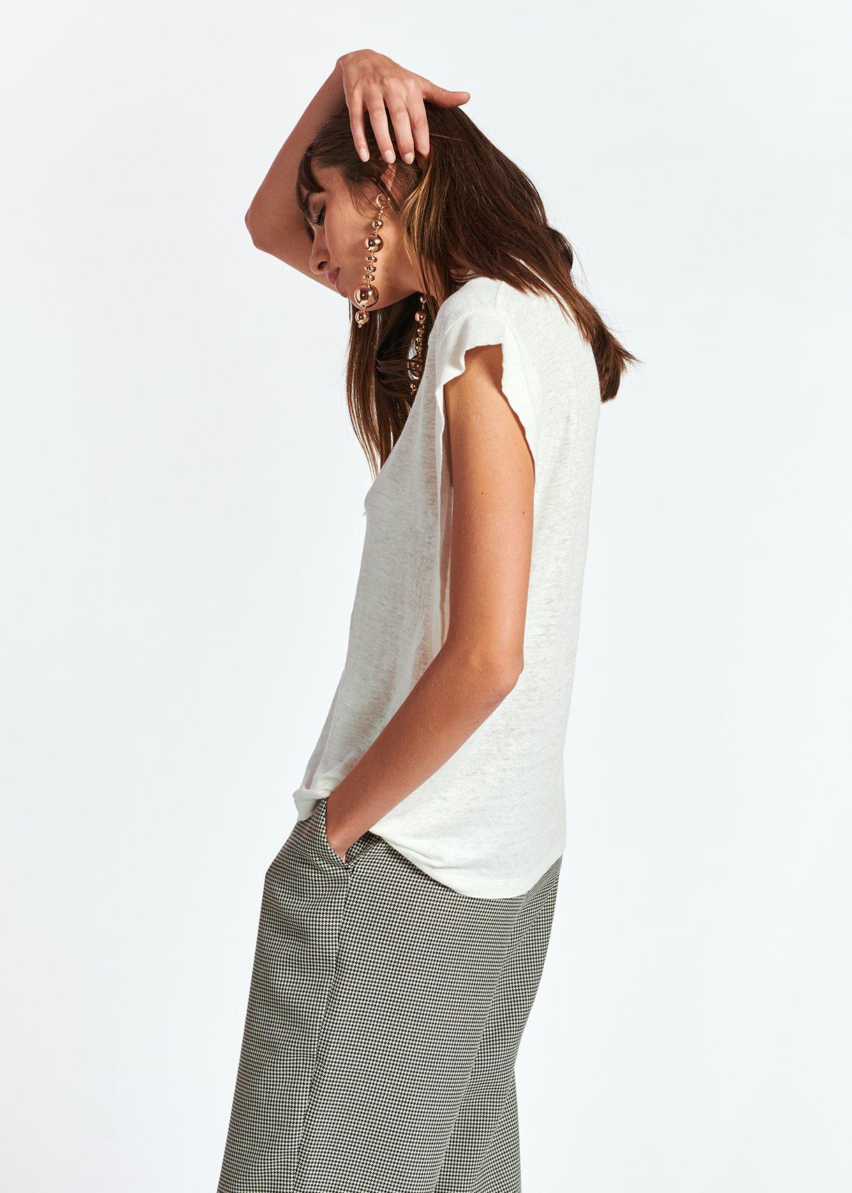 t-shirt ESSENTIEL | ZEARLY LINEN T-SHIRTOW01