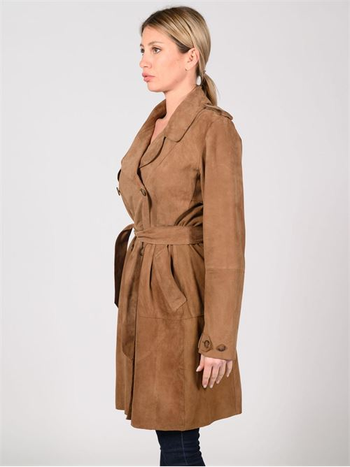 trench camoscio Bully | Giacca | BE206510SUEDEMARRONE