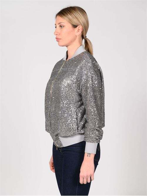 bomber nylon paillettes argento HERNO | Giaccone | GI0113D9401
