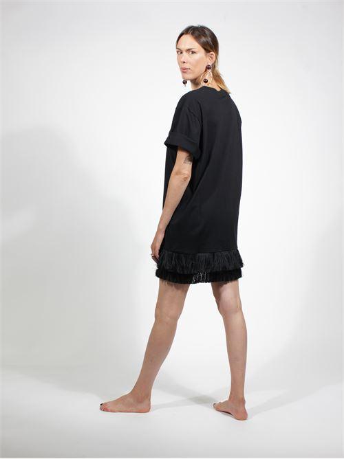 maxi t-shirt MOther of pearl | Maglia | NF065568NERO