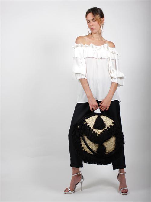blusa scollo plissè P.A.R.O.S.H. | Blusa | D311233POTEREX2