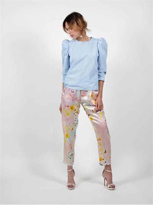 pantaloni seta Salvatore piccione | Pantalone | P2T6204MULTICOLOR