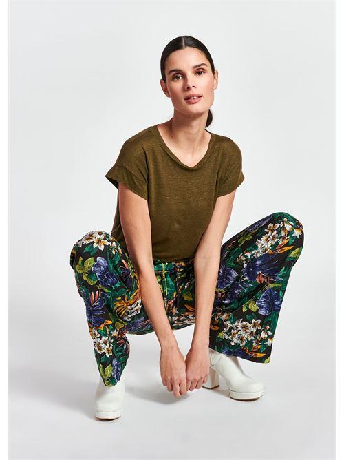 t-shirt ESSENTIEL | Maglia | ZEARLY LINEN T-SHIRTJG20