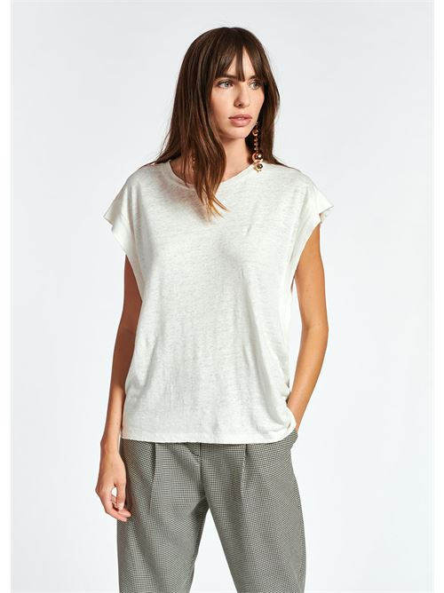 t-shirt ESSENTIEL | Maglia | ZEARLY LINEN T-SHIRTOW01