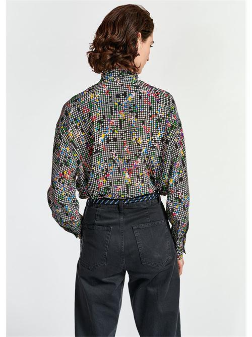 camicia ESSENTIEL   Camicia   WABIE RUFFLE SHIRTW1BL
