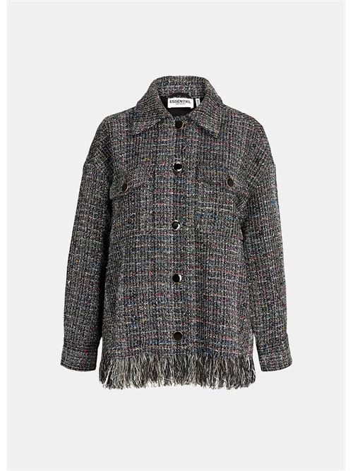 giacca ESSENTIEL   Camicia   WINOU FRINGER SHIRTW1BL