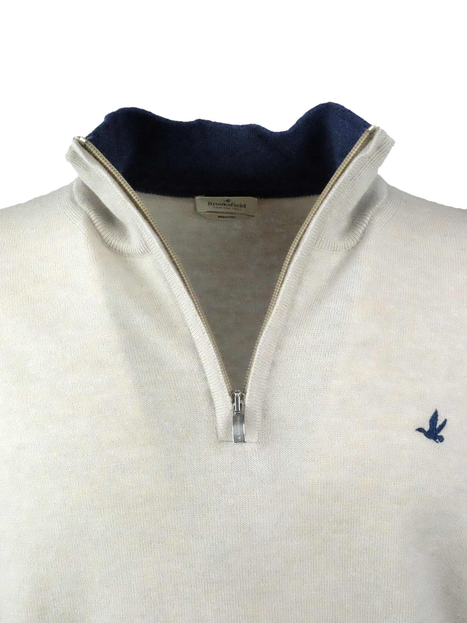 Half zip sweater  100% lambswool BROOKSFIELD | Knitwear | 203E K003133