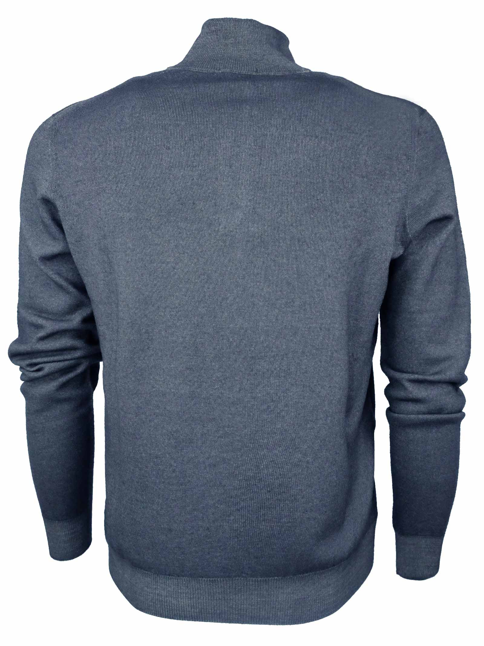 Pullover zip cortain lana merino tintura acquerello DRUMOHR | Maglieria | D2M203A675