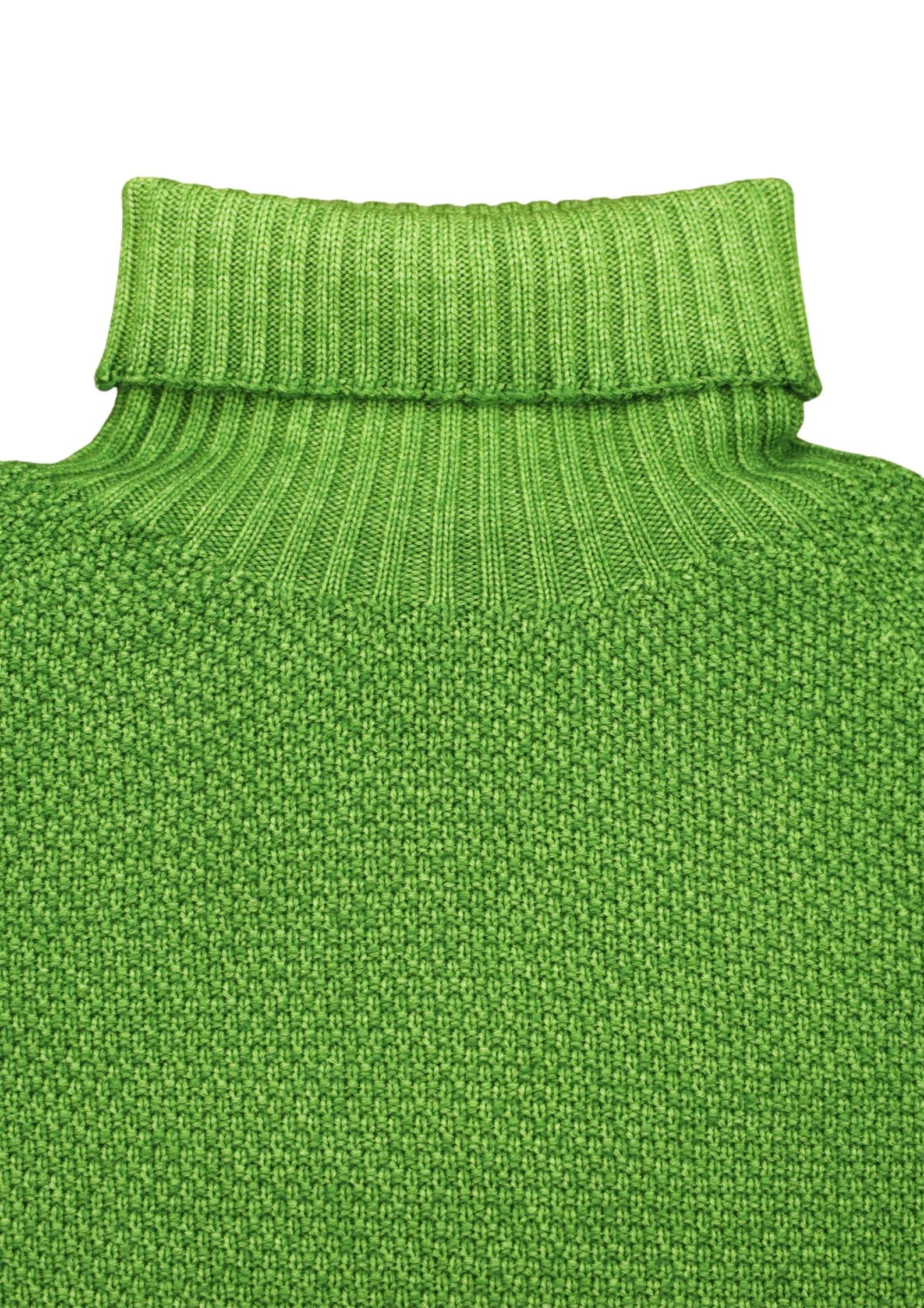 maglia collo alto grana riso in merino effetto brinato H953 | Maglieria | 294122