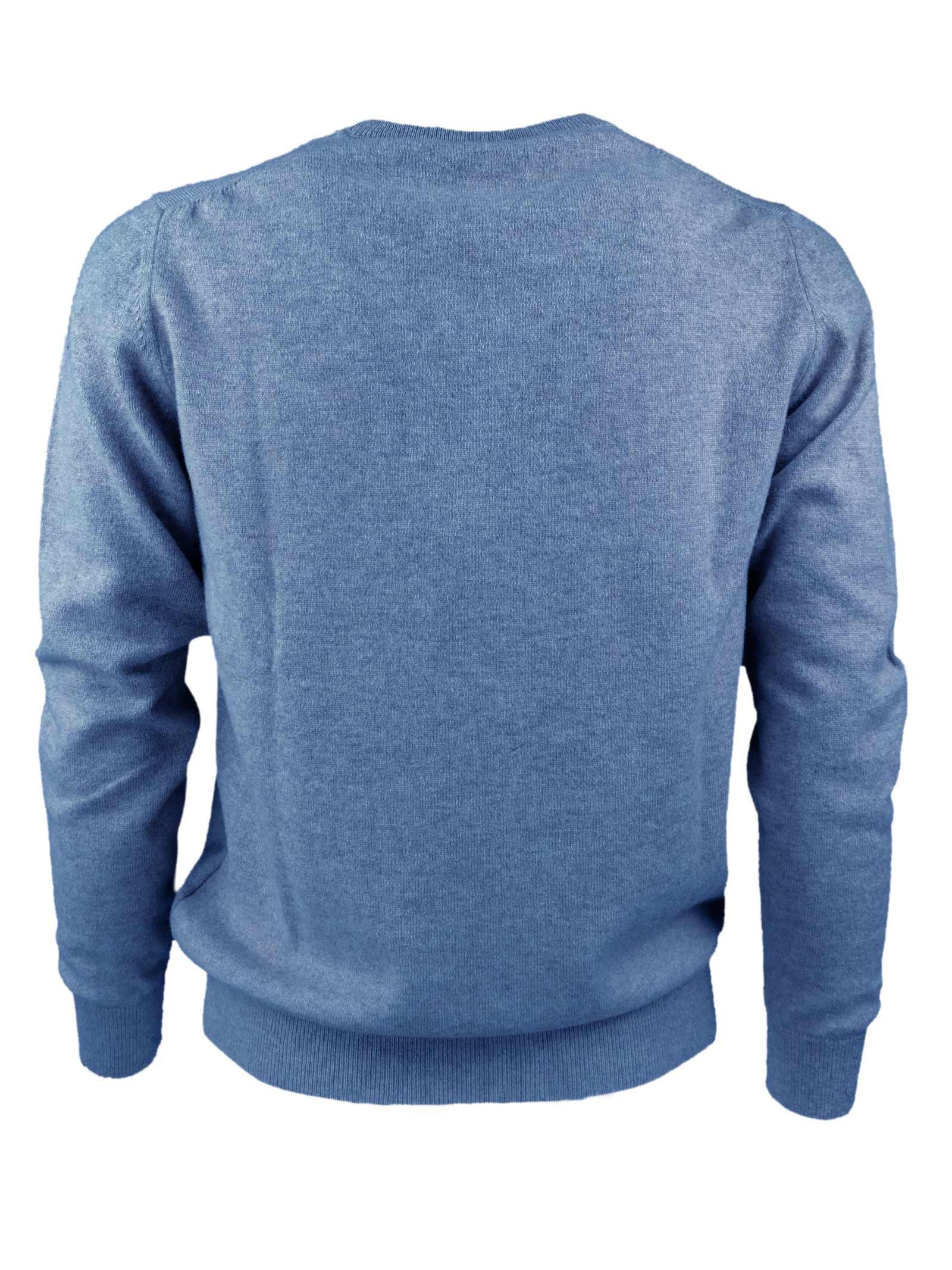 Pullover girocollo in cashmere 100%  due fili H953   Maglieria   299772