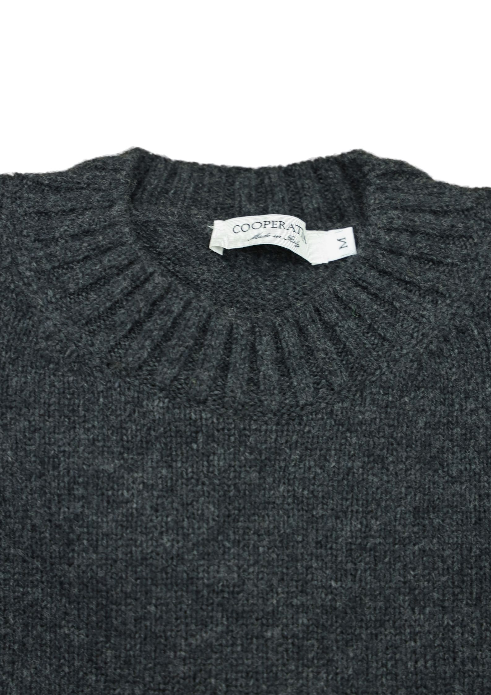 maglia girocollo in lana/cashmere 3 fili Pescatori Posillipo | Maglieria | 638ANTRACITE