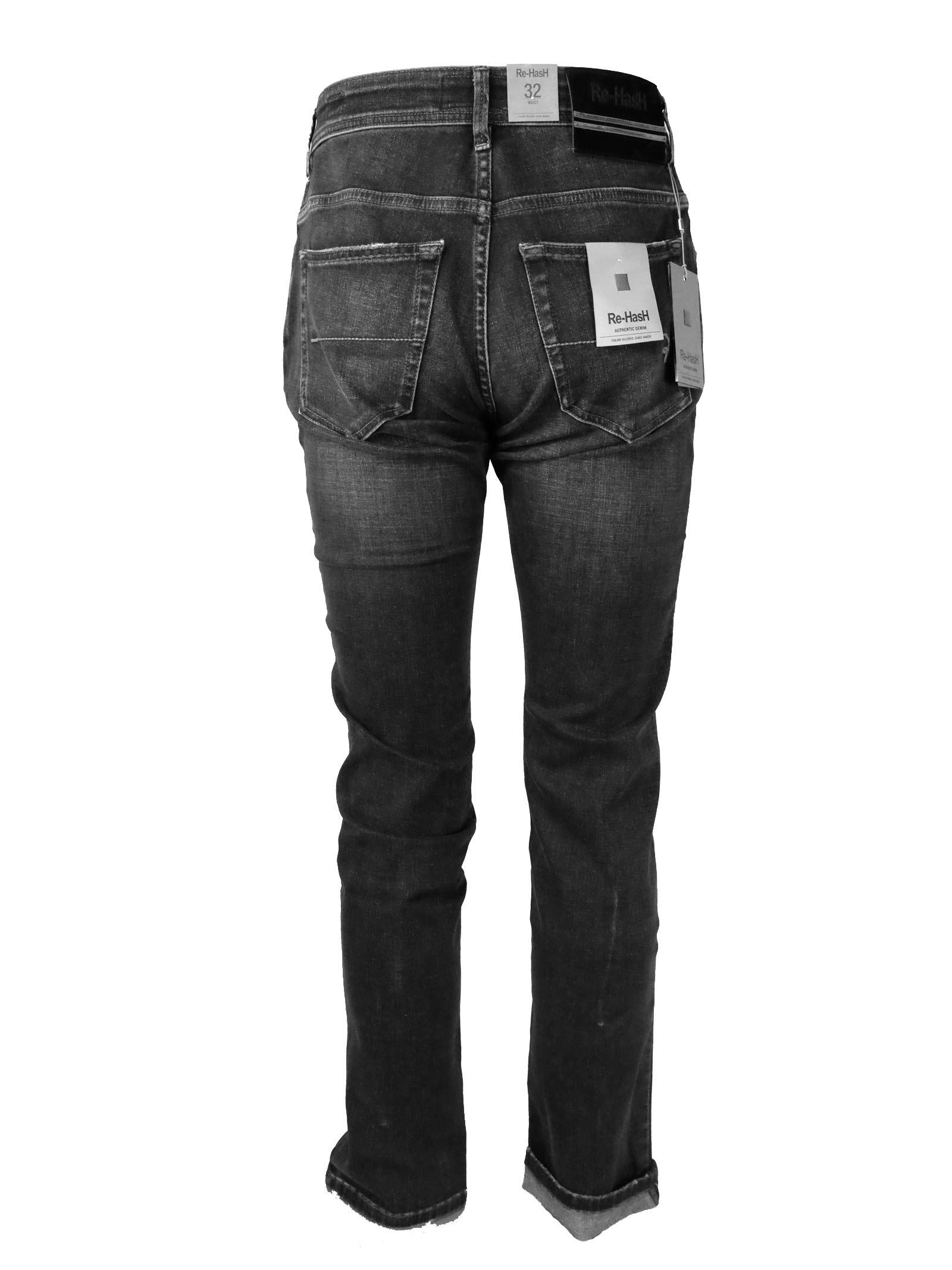 JEANS 11 OZ. GRIGIO Re-HasH | Pantaloni | HOPPER 2723 PS13937BLACK