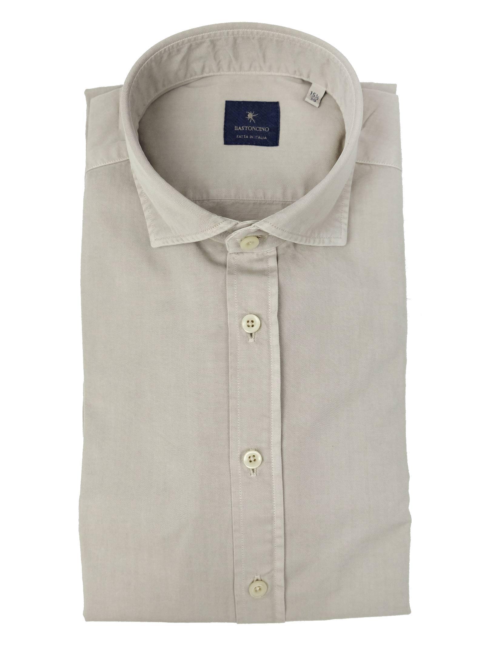Camicia tinto in capo delavè, in twill di cotone vestibilità regular BASTONCINO | Camicie | SARTB1379 03