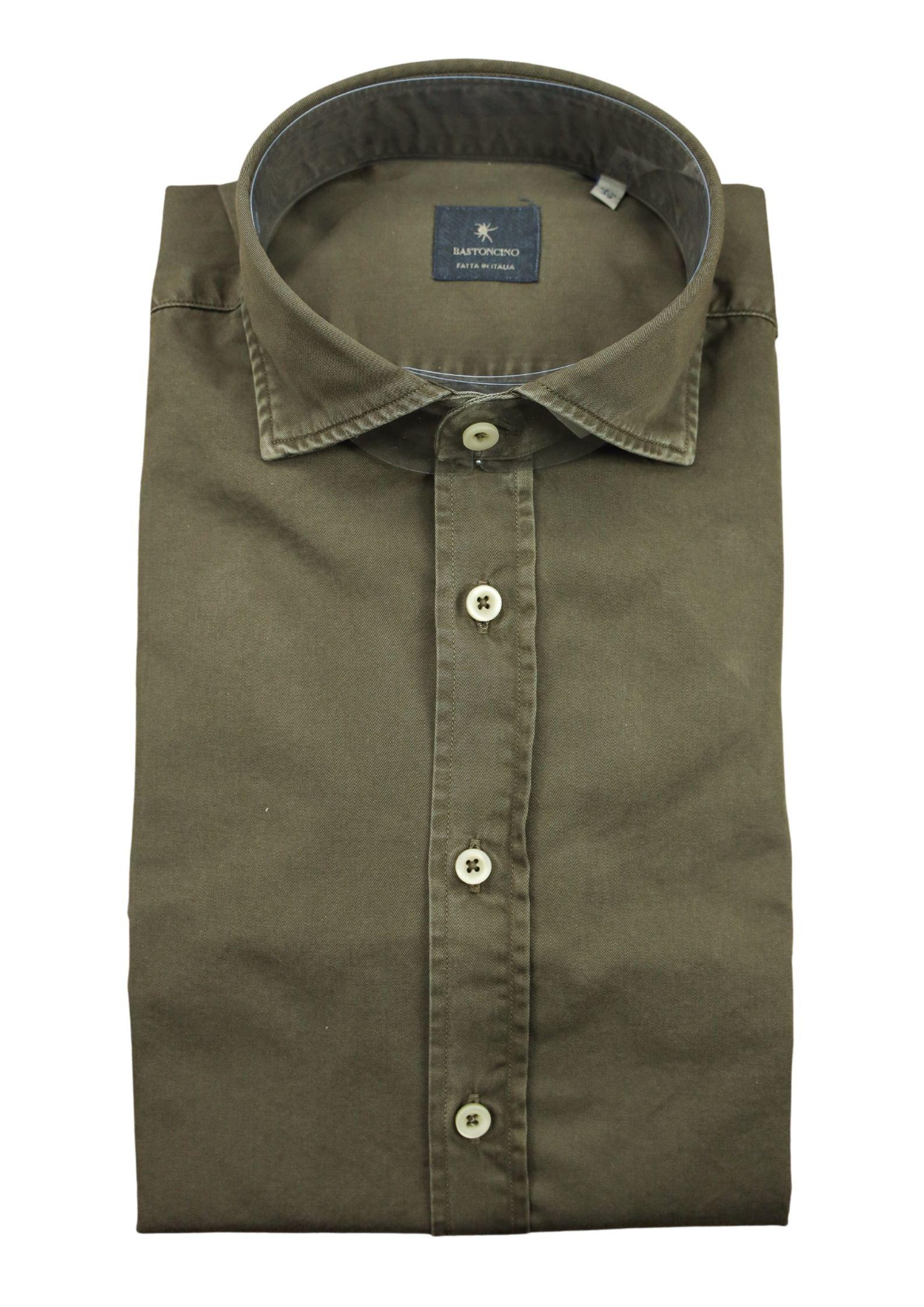 Camicia tinto in capo delavè, in twill di cotone vestibilità regular BASTONCINO | Camicie | SARTB1379 04