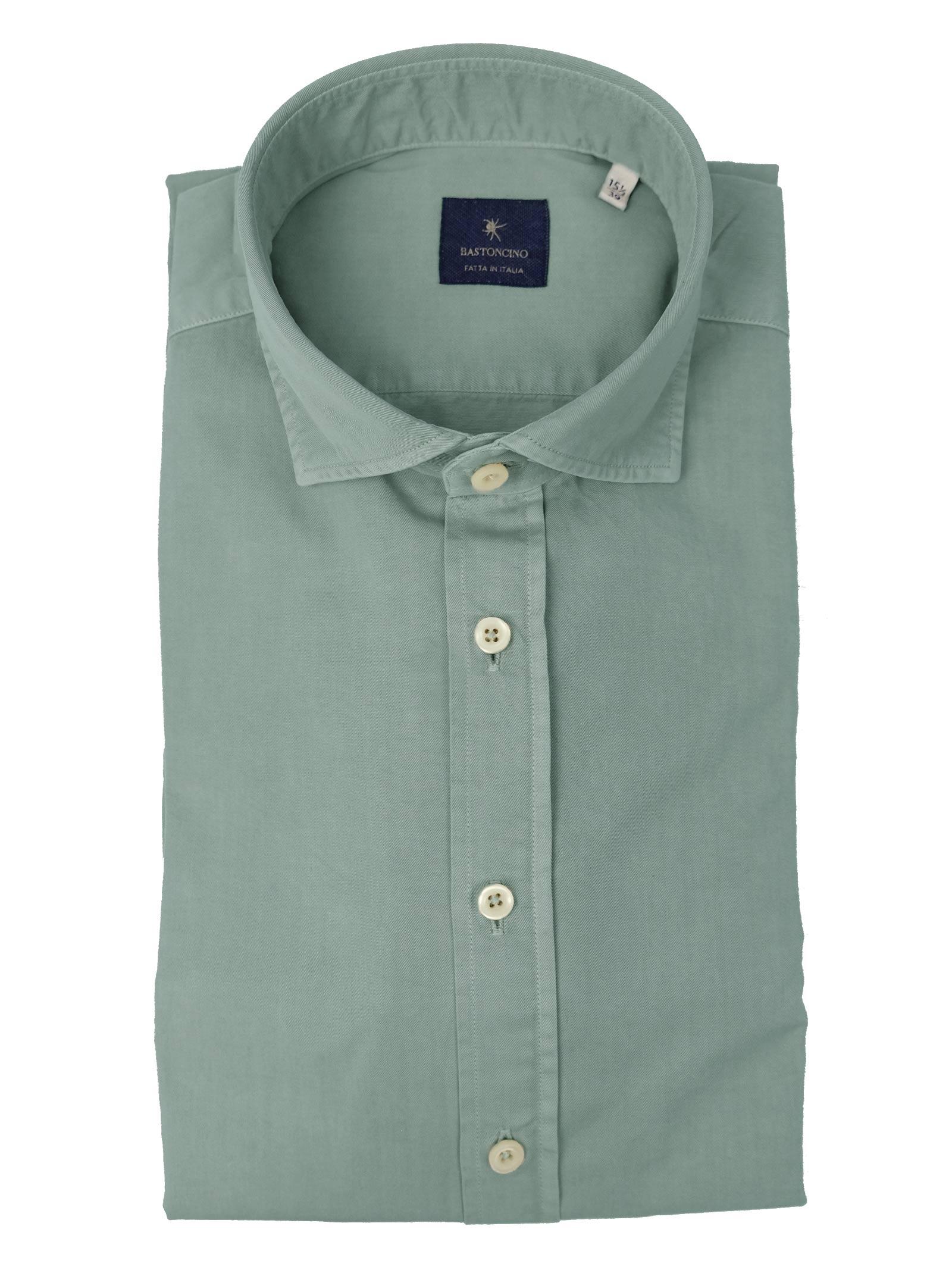 Garment dyed  , cotton twill shirt, regular fit BASTONCINO   Shirts   SARTB1379 07
