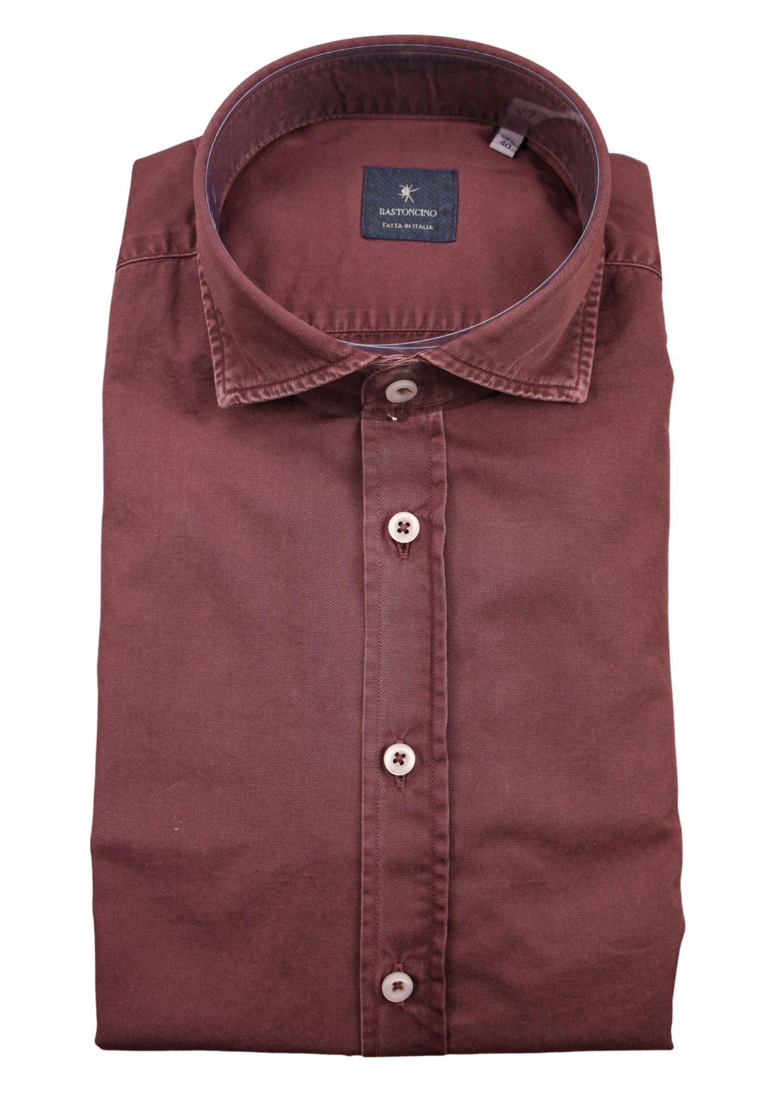 Camicia tinto in capo delavè, in twill di cotone vestibilità regular BASTONCINO   Camicie   SARTB1379 10