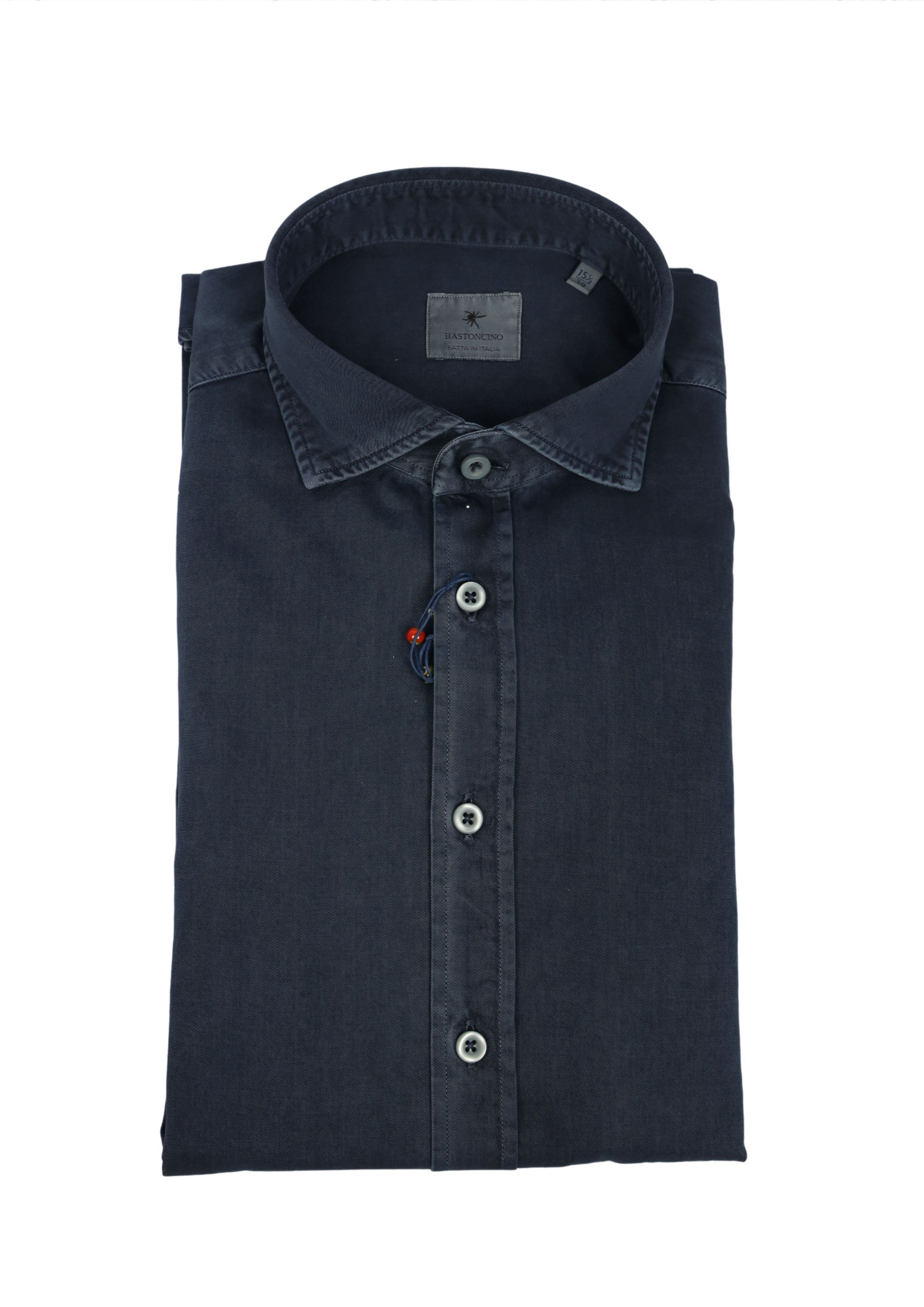 Camicia tinto in capo delavè, in twill di cotone vestibilità regular BASTONCINO   Camicie   SARTB1379 12