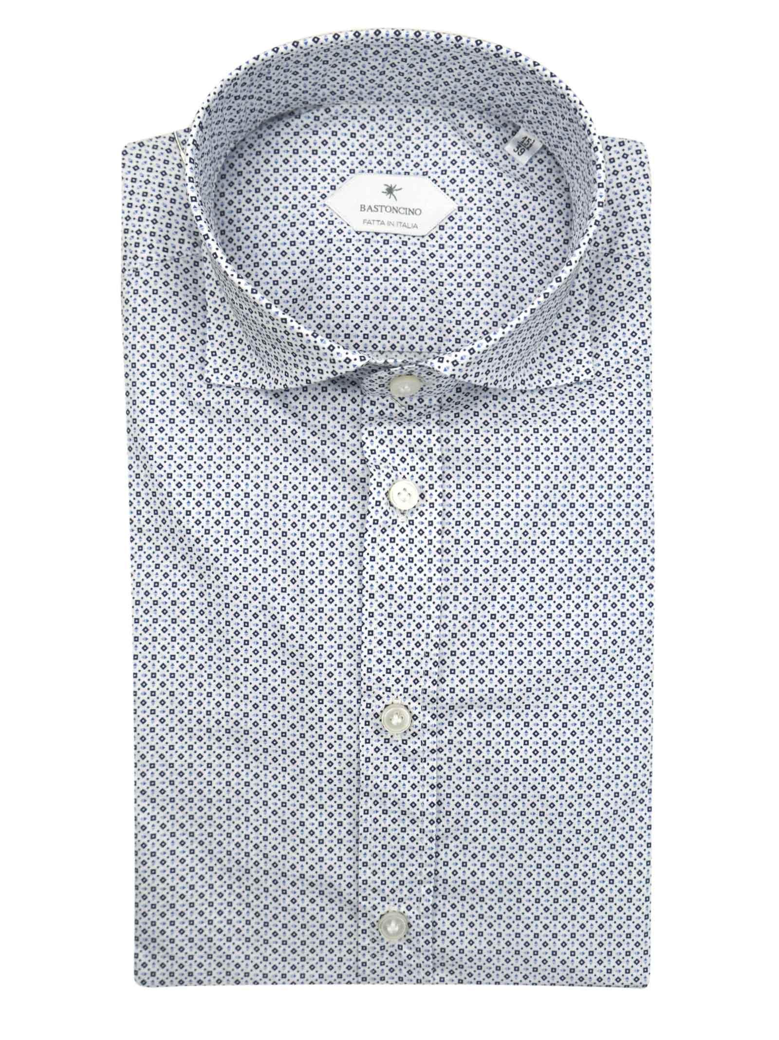 Camicia fantasia vestibilita regular BASTONCINO | Camicie | SARTB1967