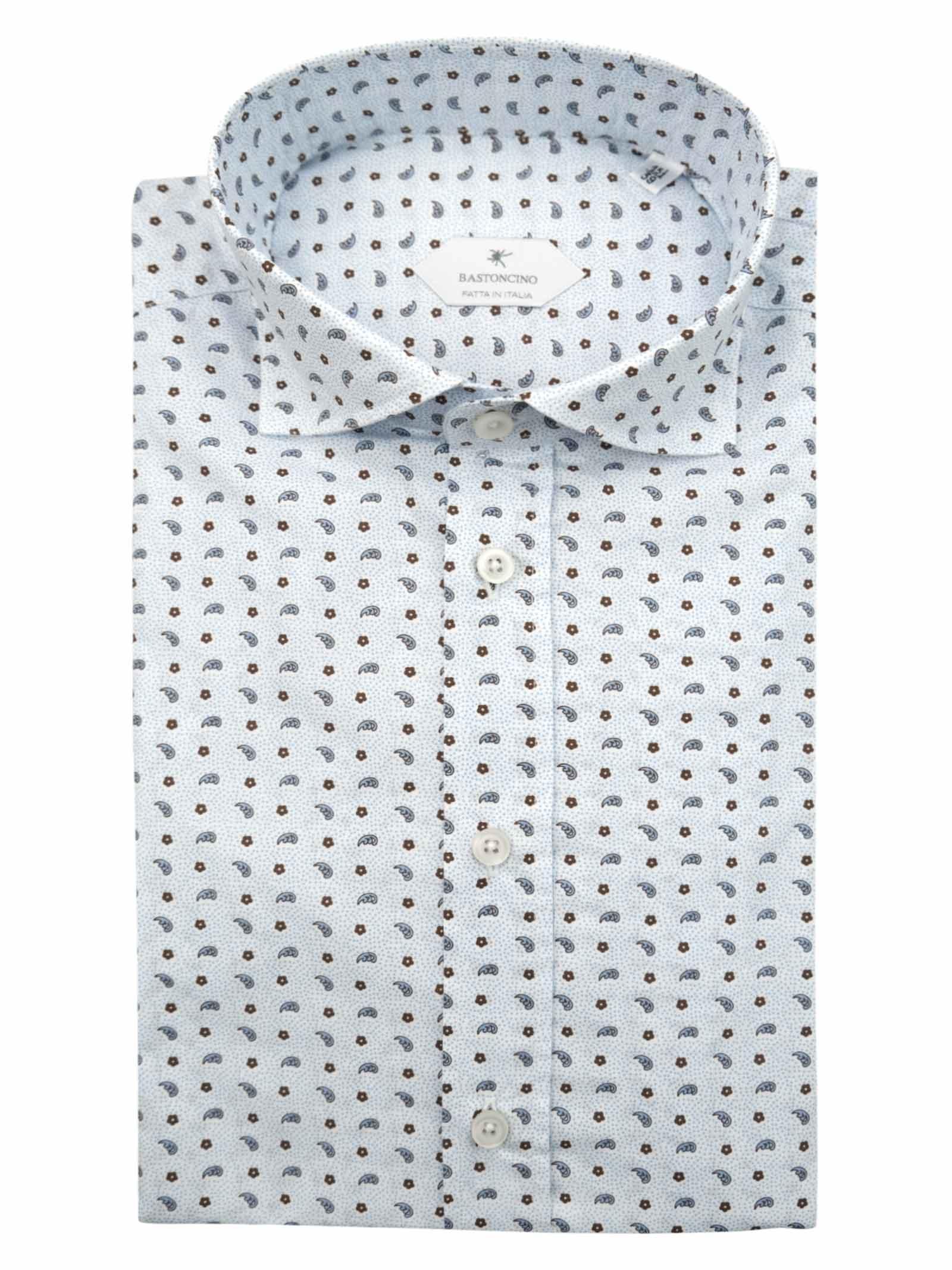 Camicia fantasia vestibilita regular BASTONCINO   Camicie   SARTB1970