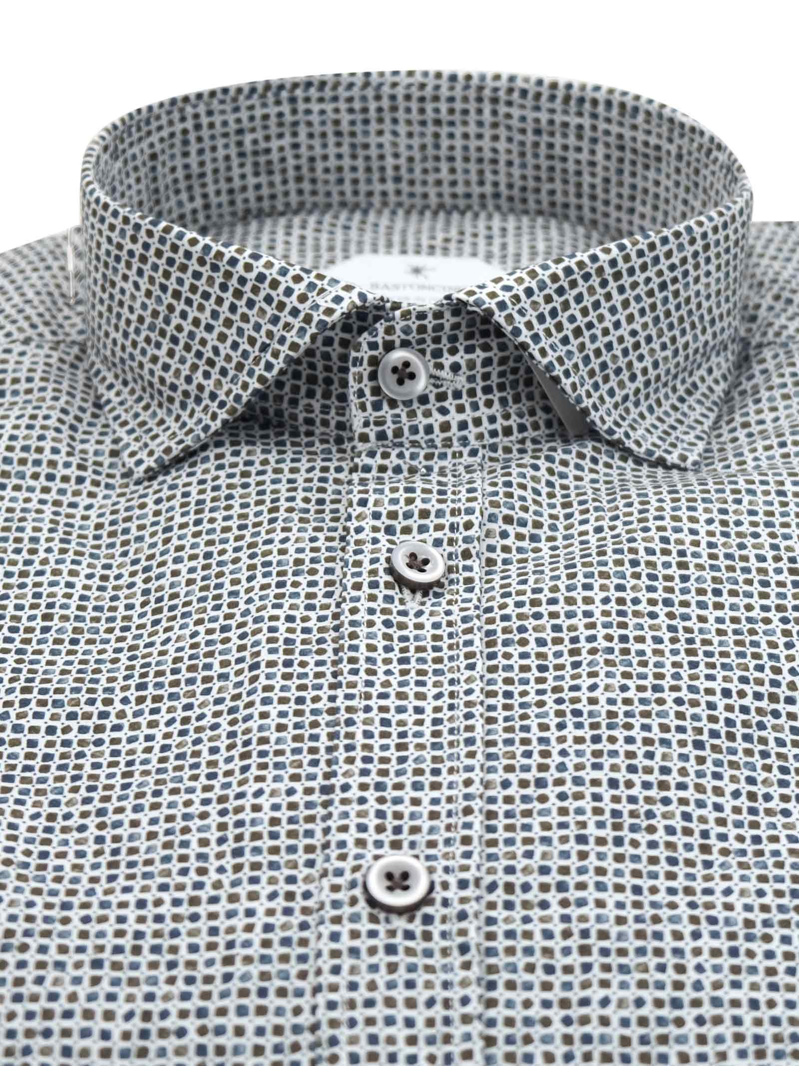 Camicia fantasia vestibilita regular BASTONCINO | Camicie | SARTB2000