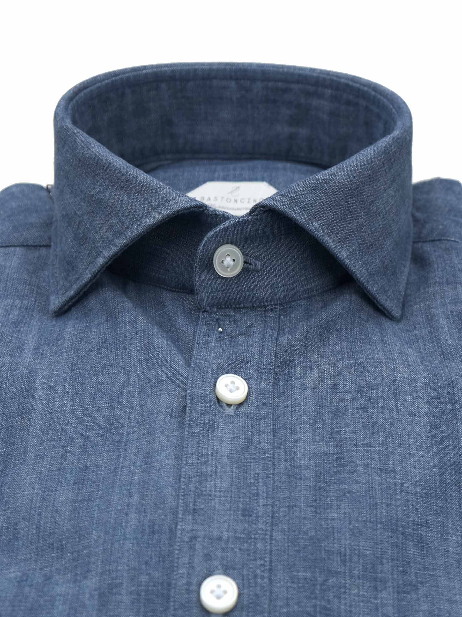 Printed shirt , regular fit , soft collar washed and softened BASTONCINO | Shirts | SARTC101 00