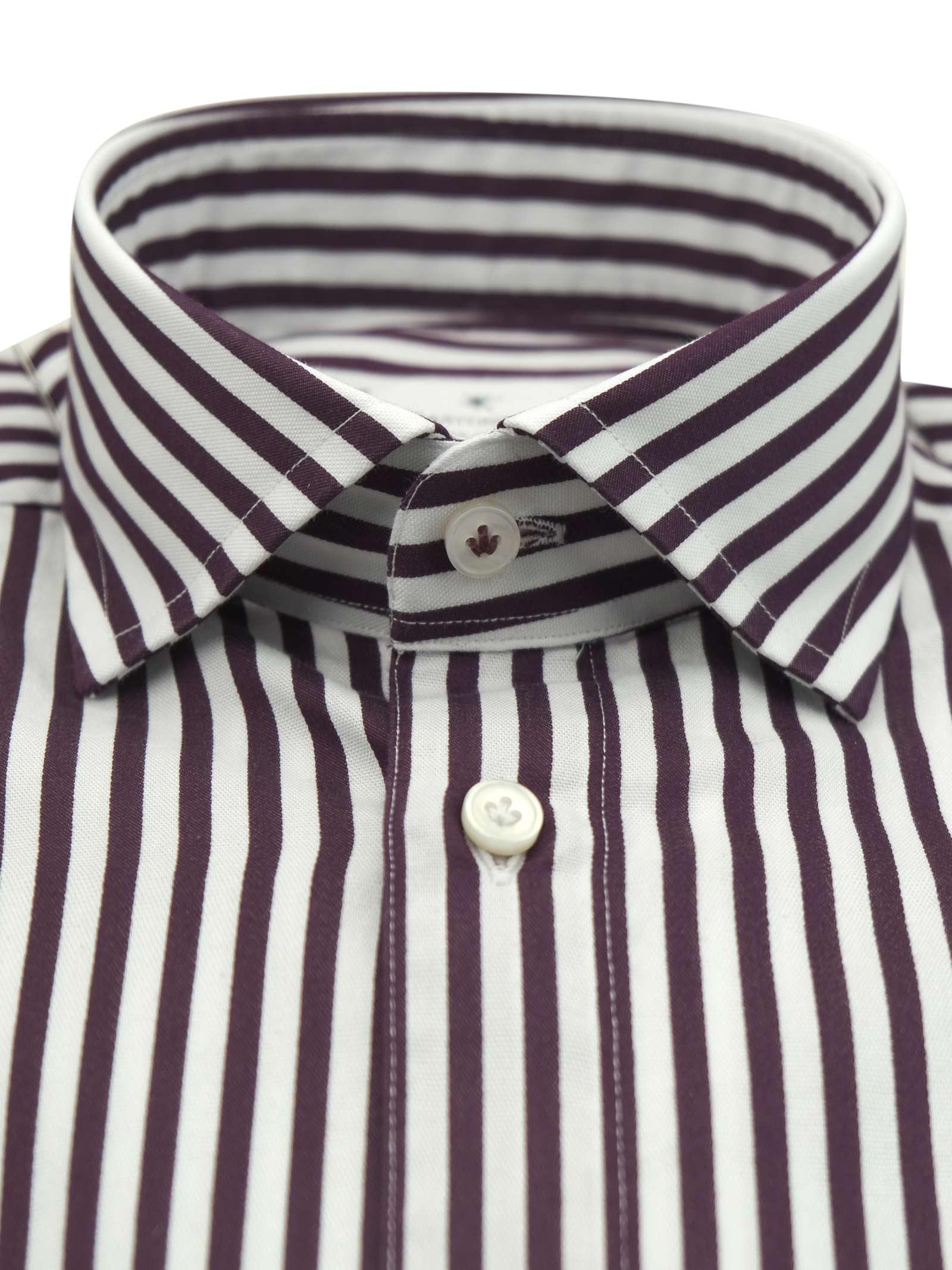 Printed shirt , semi slim fit , soft collar washed and softened BASTONCINO | Shirts | SIMOB1996 03