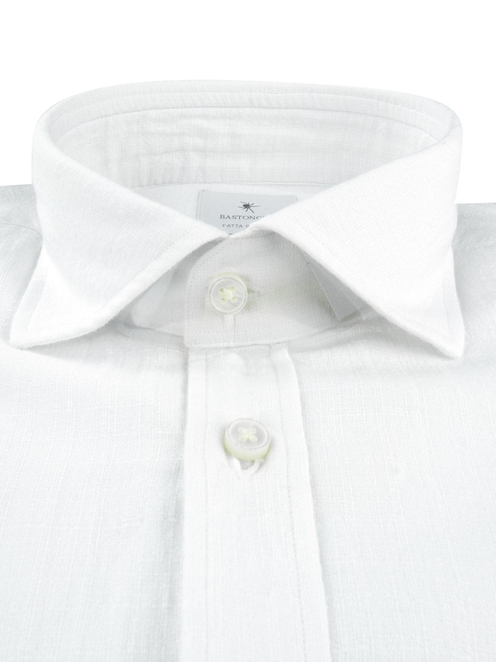Camicia tinto in capo delavè, in twill di cotone vestibilità semi slim , BASTONCINO   Camicie   SIMOB1379 01