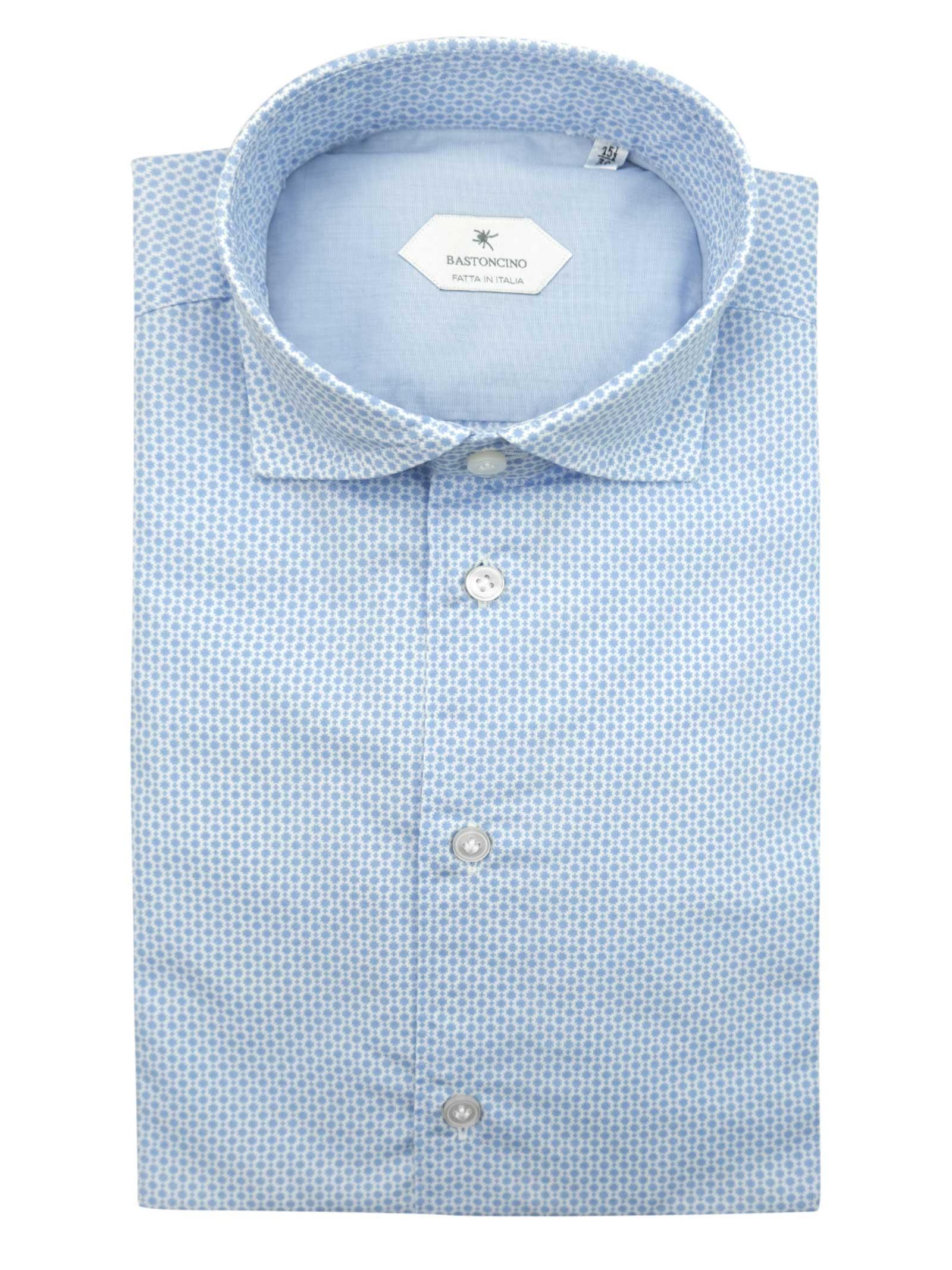 Camicia fantasia vestibilita leggermente slim BASTONCINO | Camicie | SIMOB1961