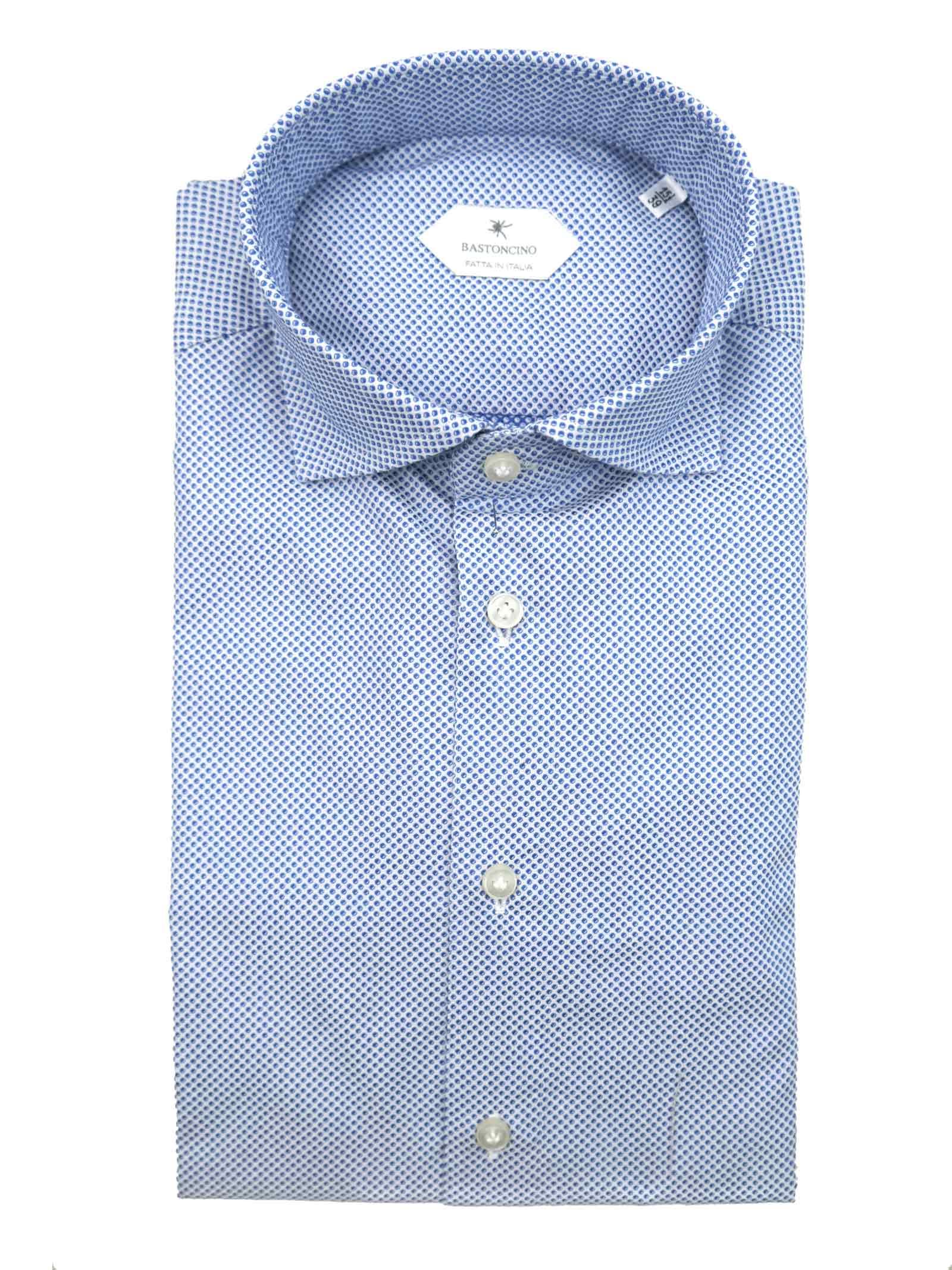 Printed shirt , semi slim fit , soft collar washed and softened BASTONCINO | Shirts | SIMOB1965 03