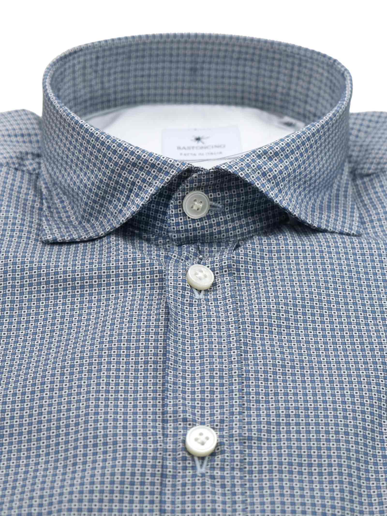 Printed shirt , semi slim fit , soft collar washed and softened BASTONCINO   Shirts   SIMOB1975 01