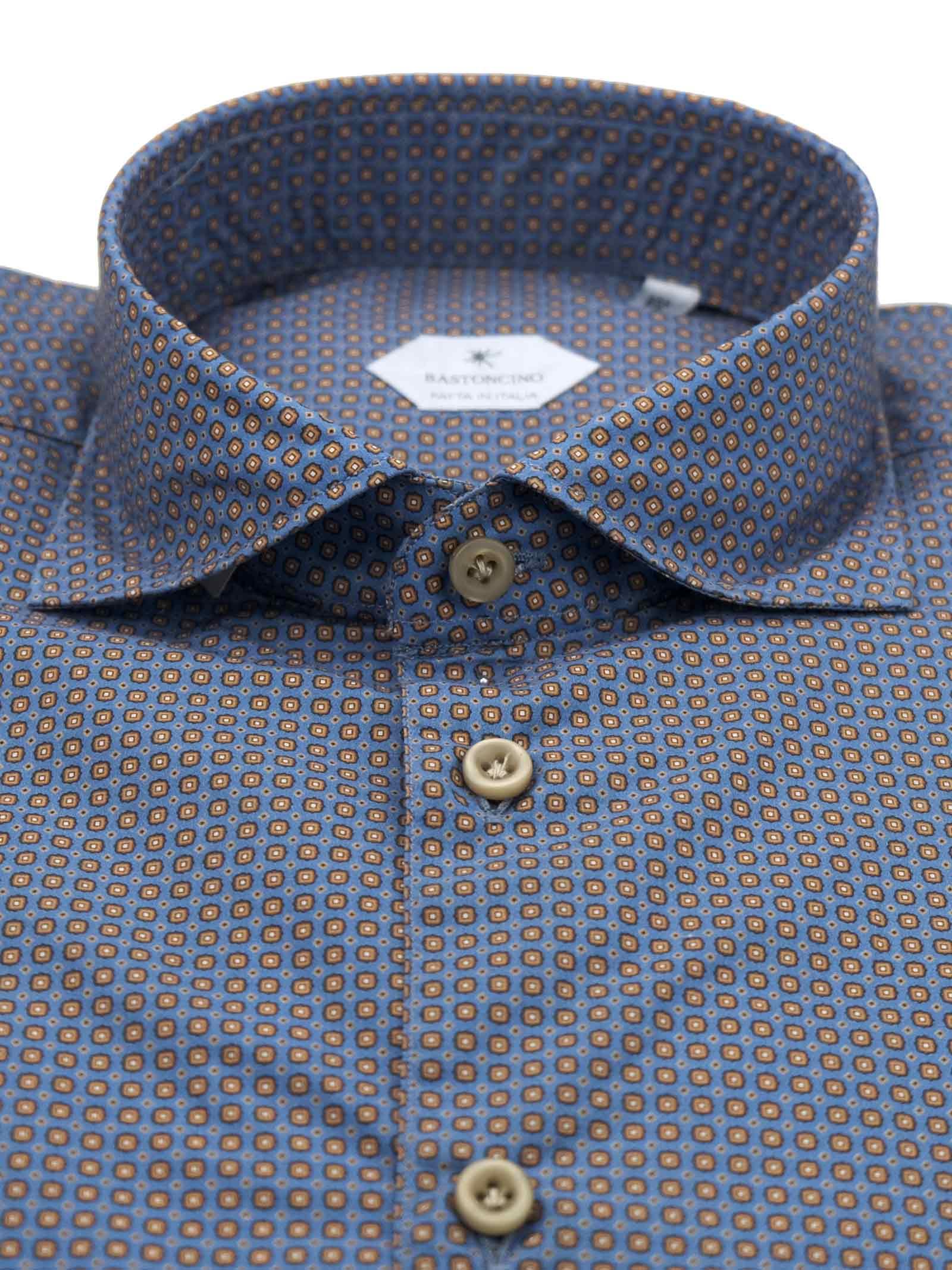 Camicia fantasia vestibilita leggermente slim BASTONCINO   Camicie   SIMOB1977 01