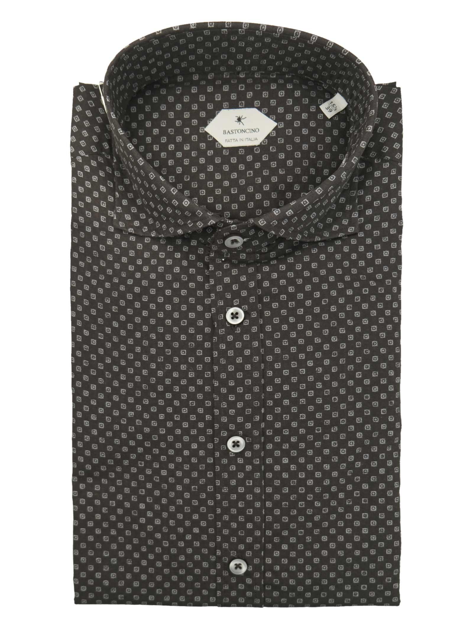 Camicia fantasia vestibilita leggermente slim BASTONCINO | Camicie | SIMOB1994