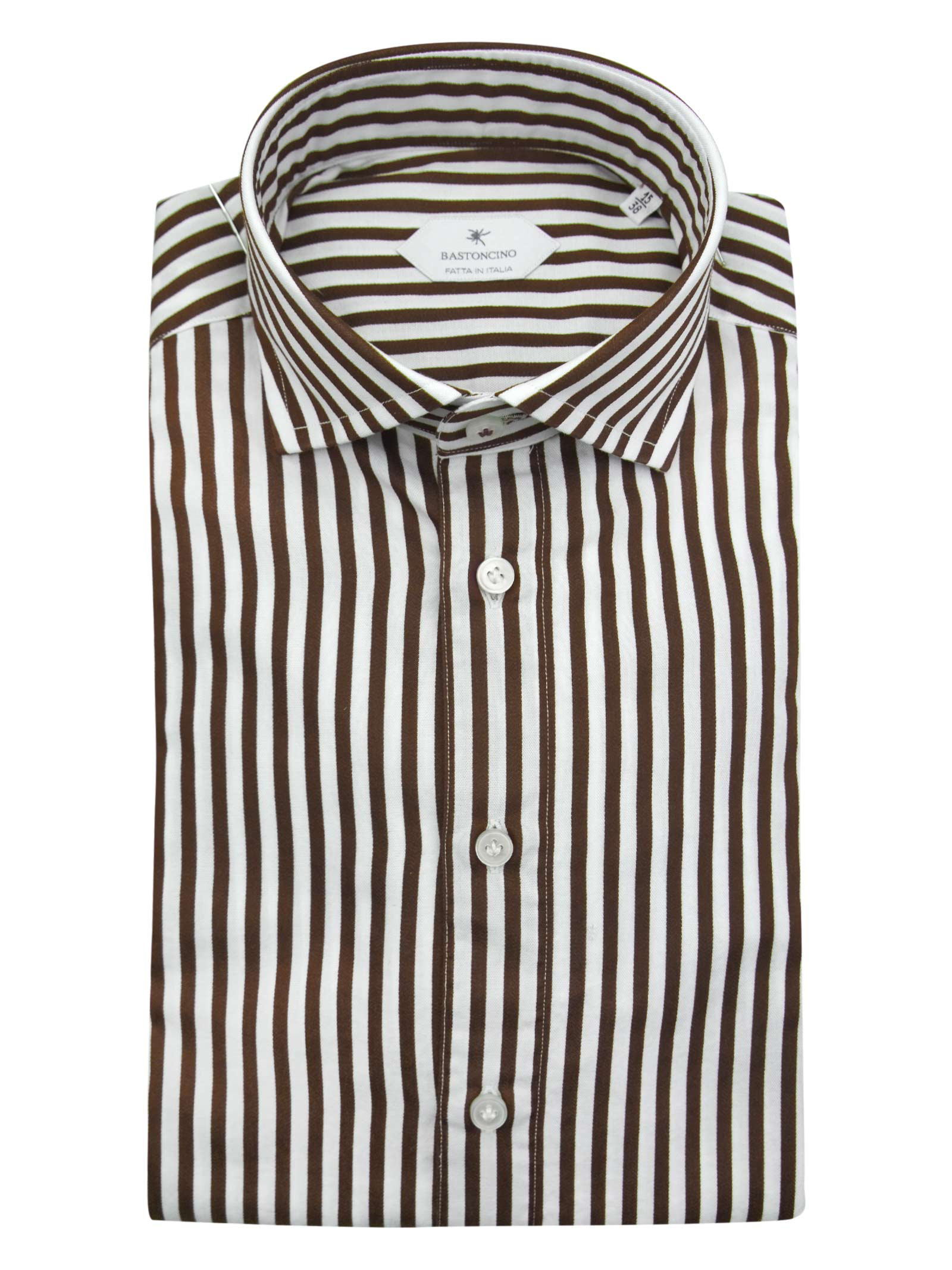 Printed shirt , semi slim fit , soft collar washed and softened BASTONCINO | Shirts | SIMOB1996 02