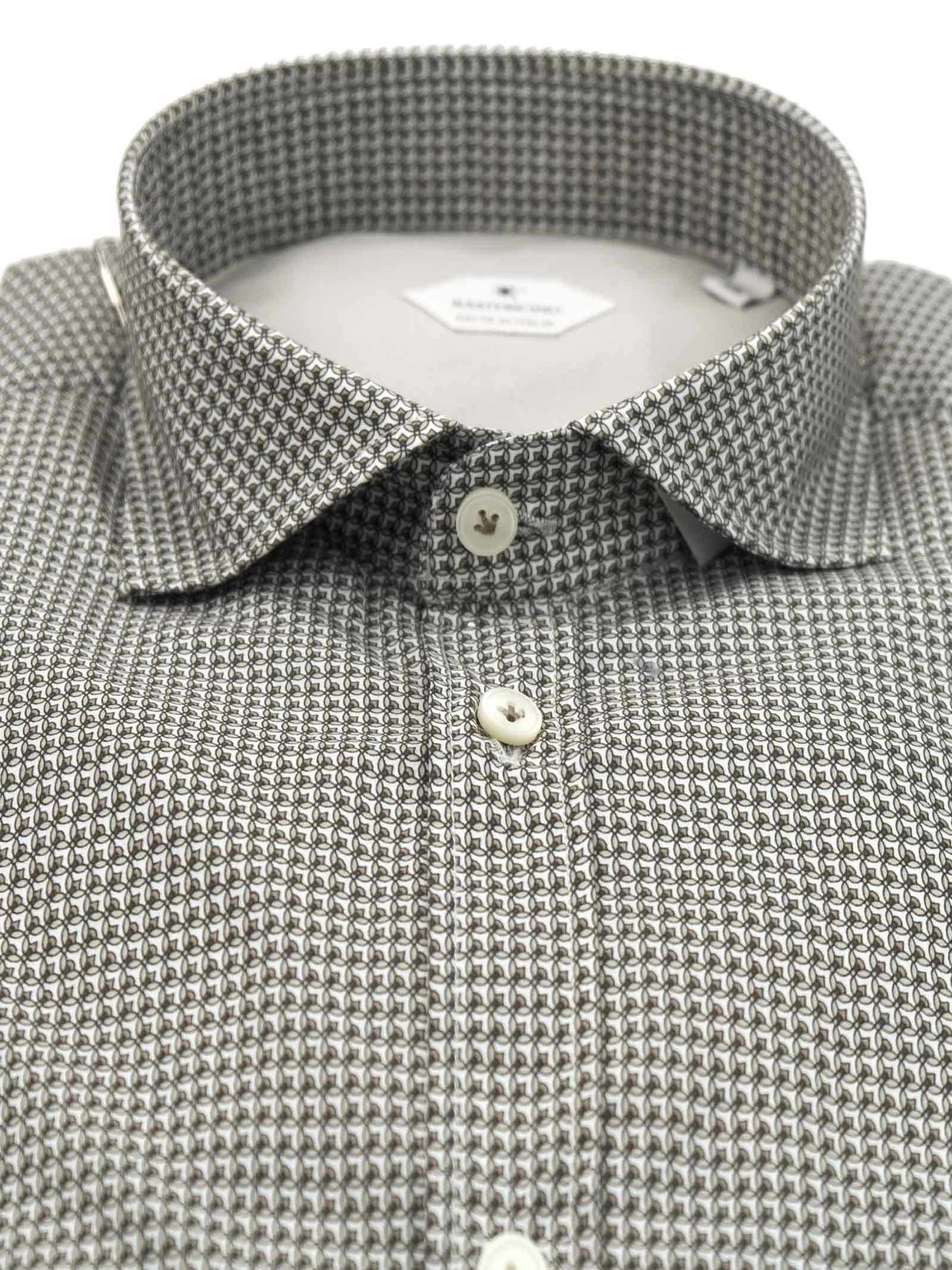 Printed shirt , semi slim fit , soft collar washed and softened BASTONCINO | Shirts | SIMOB1998