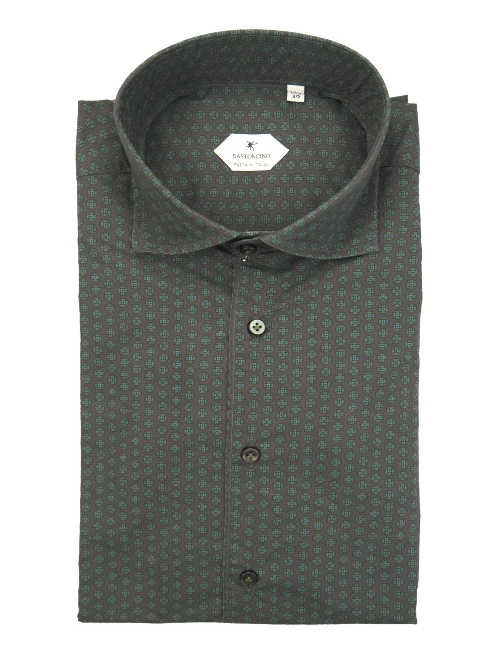 Printed shirt , semi slim fit , soft collar washed and softened BASTONCINO   Shirts   SIMOB2002