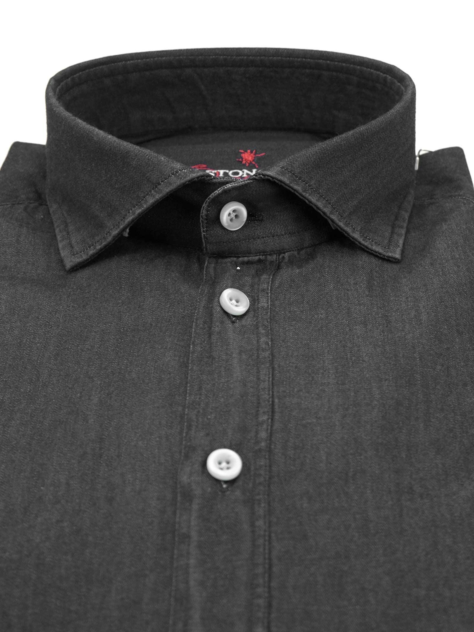 Camicia fantasia vestibilita leggermente slim BASTONCINO | Camicie | SIMOB2050