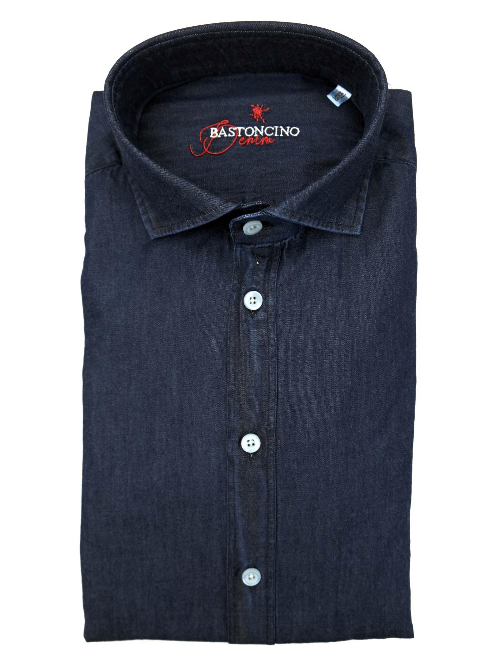 Printed shirt , semi slim fit , soft collar washed and softened BASTONCINO | Shirts | SIMOB2056