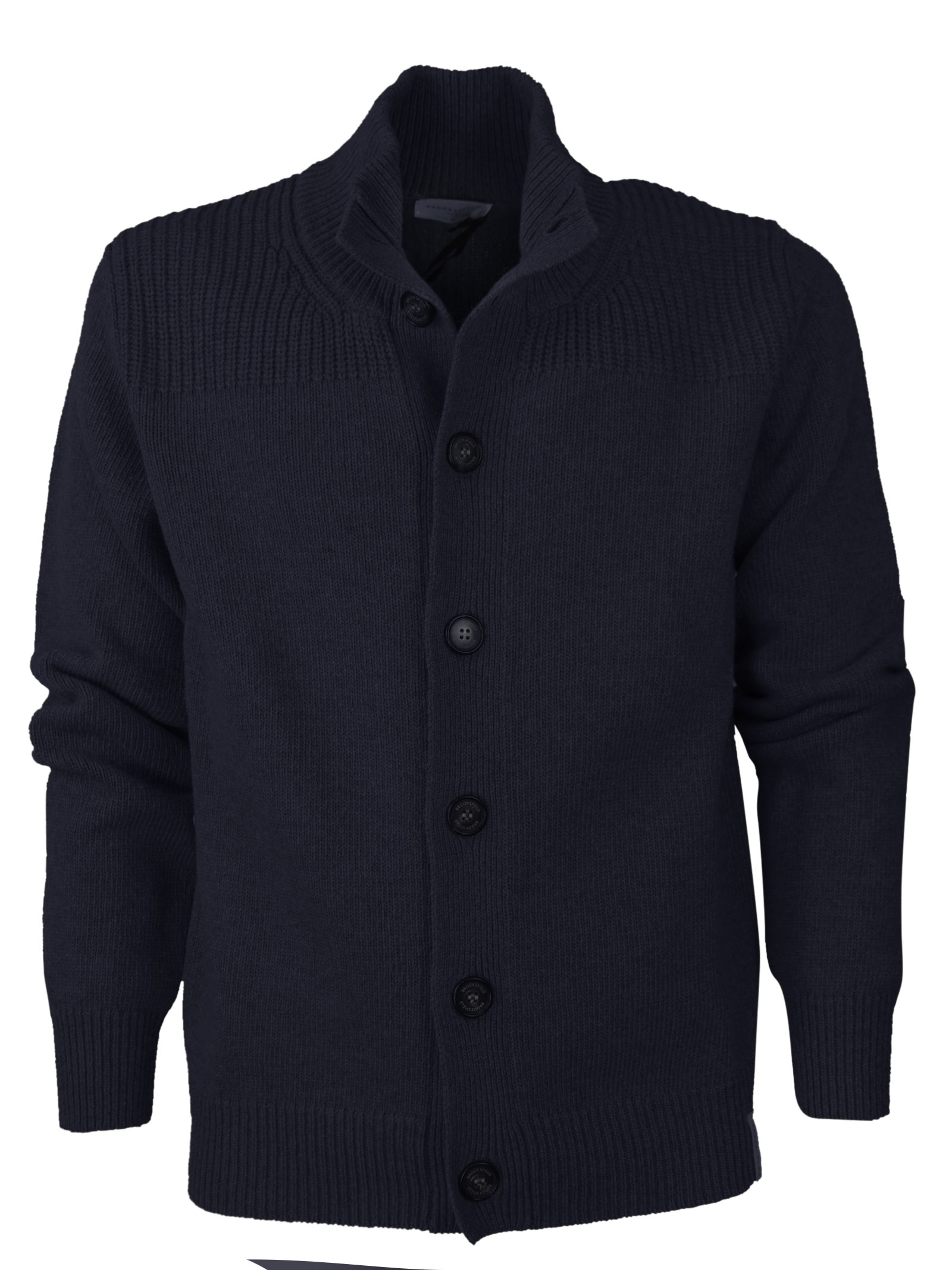 High collar botton up sweater  BROOKSFIELD   Knitwear   203I.M0059608