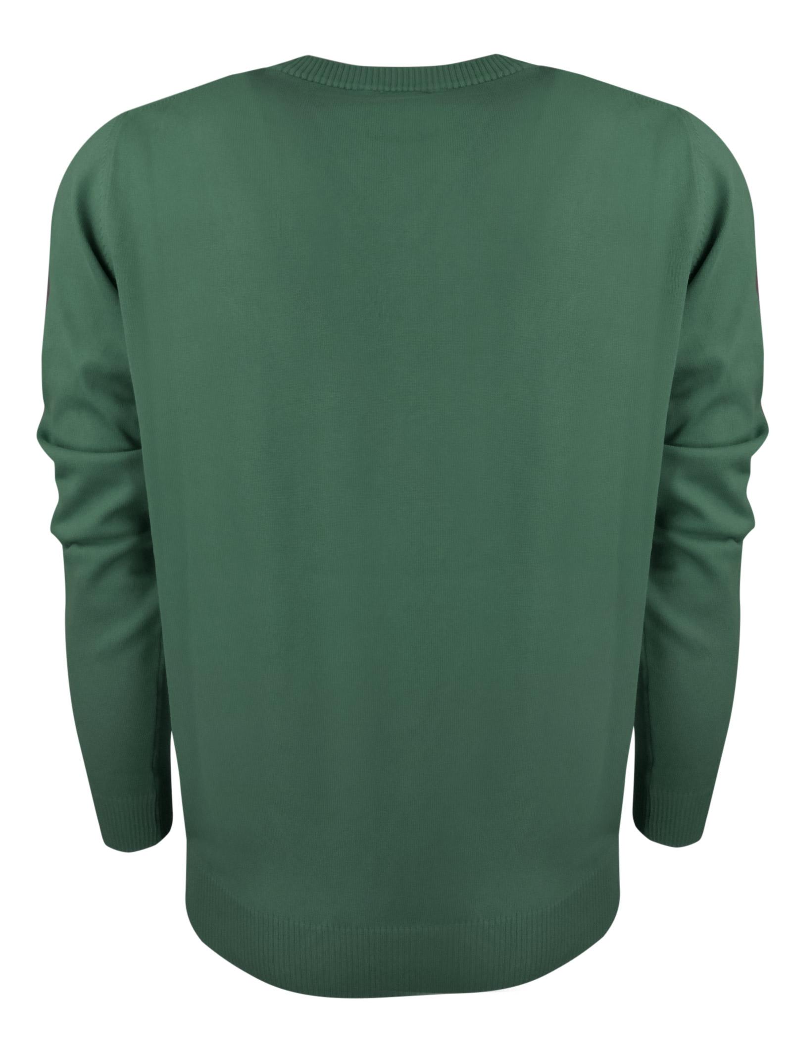 Crew neck cotton  sweater, contrast logo . BROOKSFIELD | Knitwear | 203E.A0217240