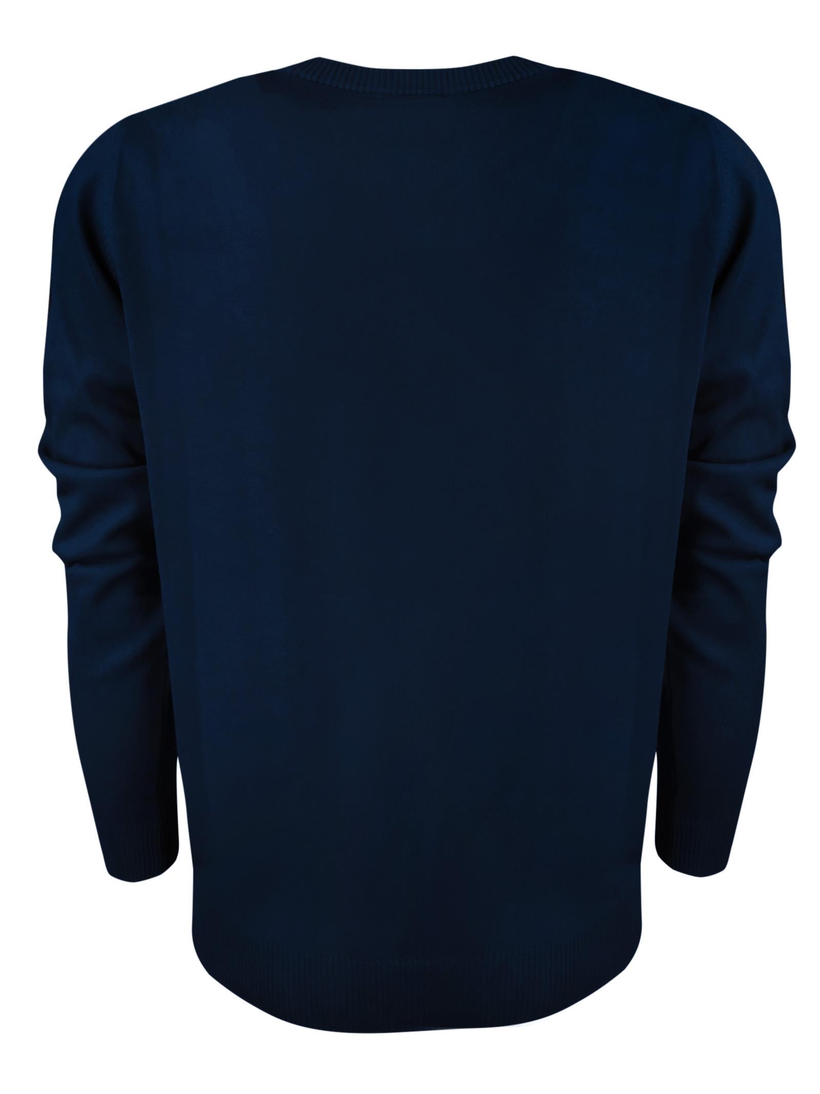 Maglia girocollo in cotone , logo in contrasto . BROOKSFIELD | Maglieria | 203E.A0219608
