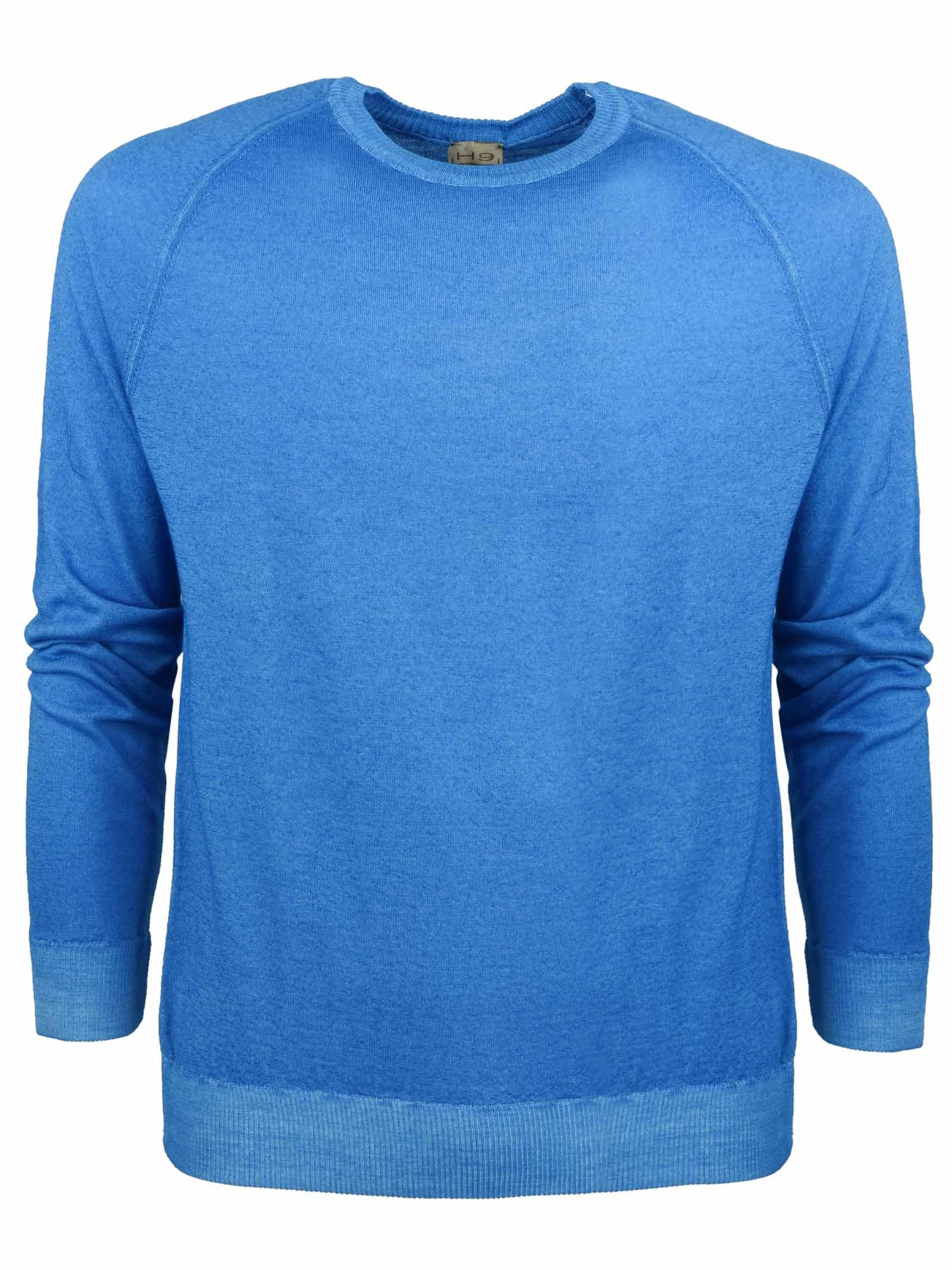 Sweat style merino wool crew neck H953 | Knitwear | 317169