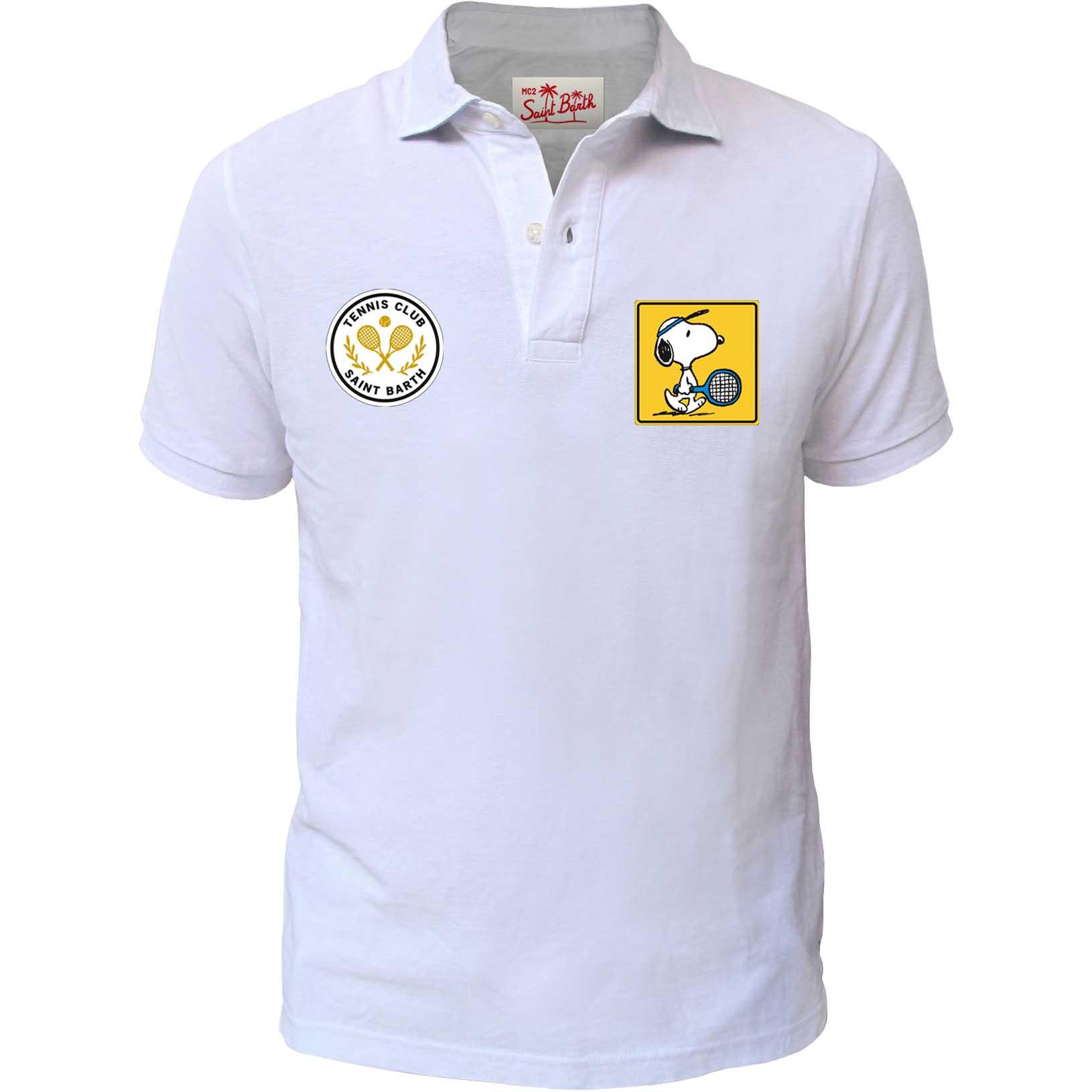 Patches piquet polo, ribbed sleeves. MC2  SAINT BARTH   Polos   CARD001PTSC0N
