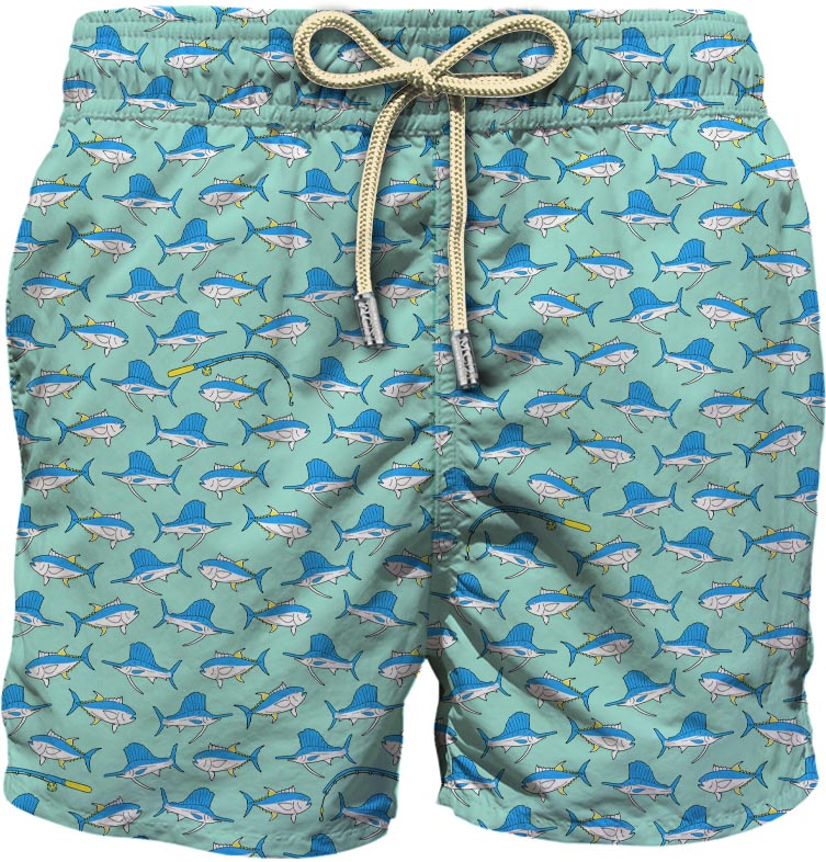 Light fabric swim short MC2  SAINT BARTH |  | LIG0003FSTM56