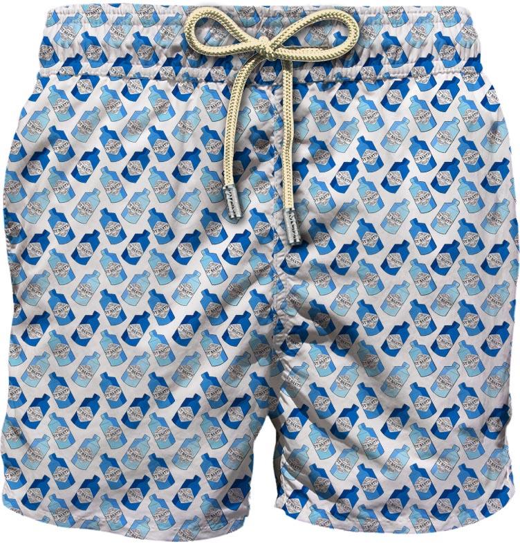Light fabric swim short MC2  SAINT BARTH |  | LIG0003GNMN01