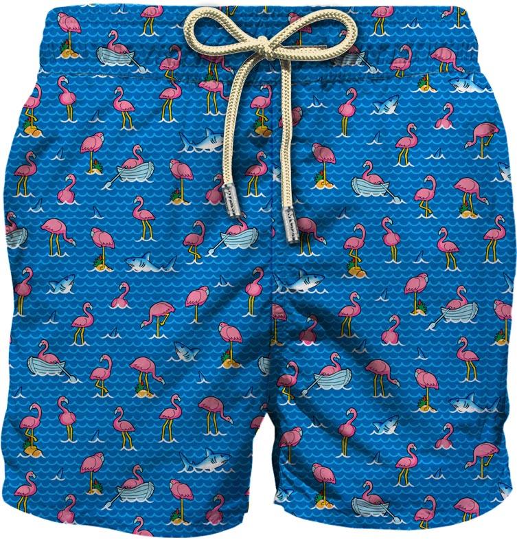Light fabric swim short MC2  SAINT BARTH |  | LIG0003TRFL17
