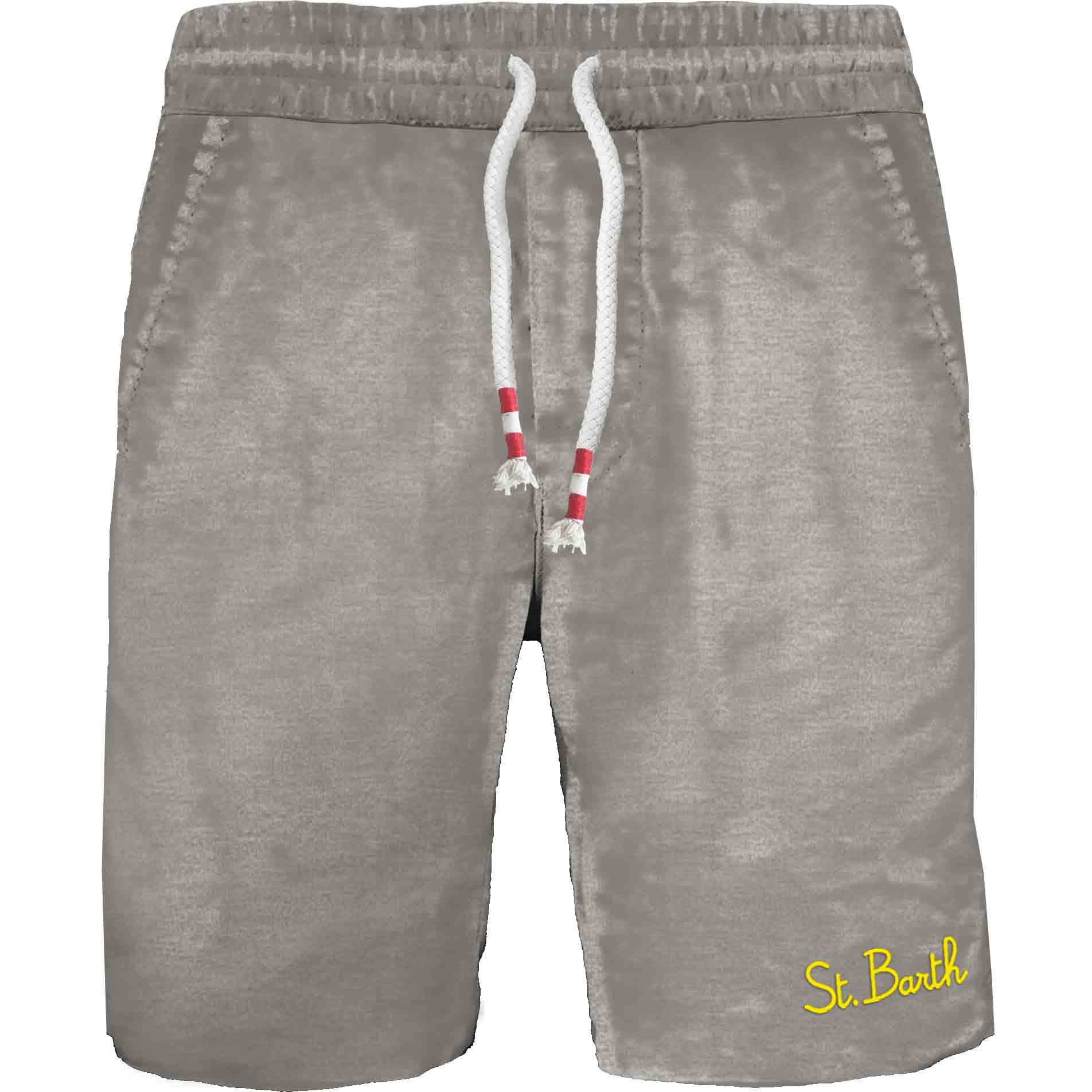 Short in felpa leggera con ricamo MC2  SAINT BARTH | Bermuda | RANL004FADE15
