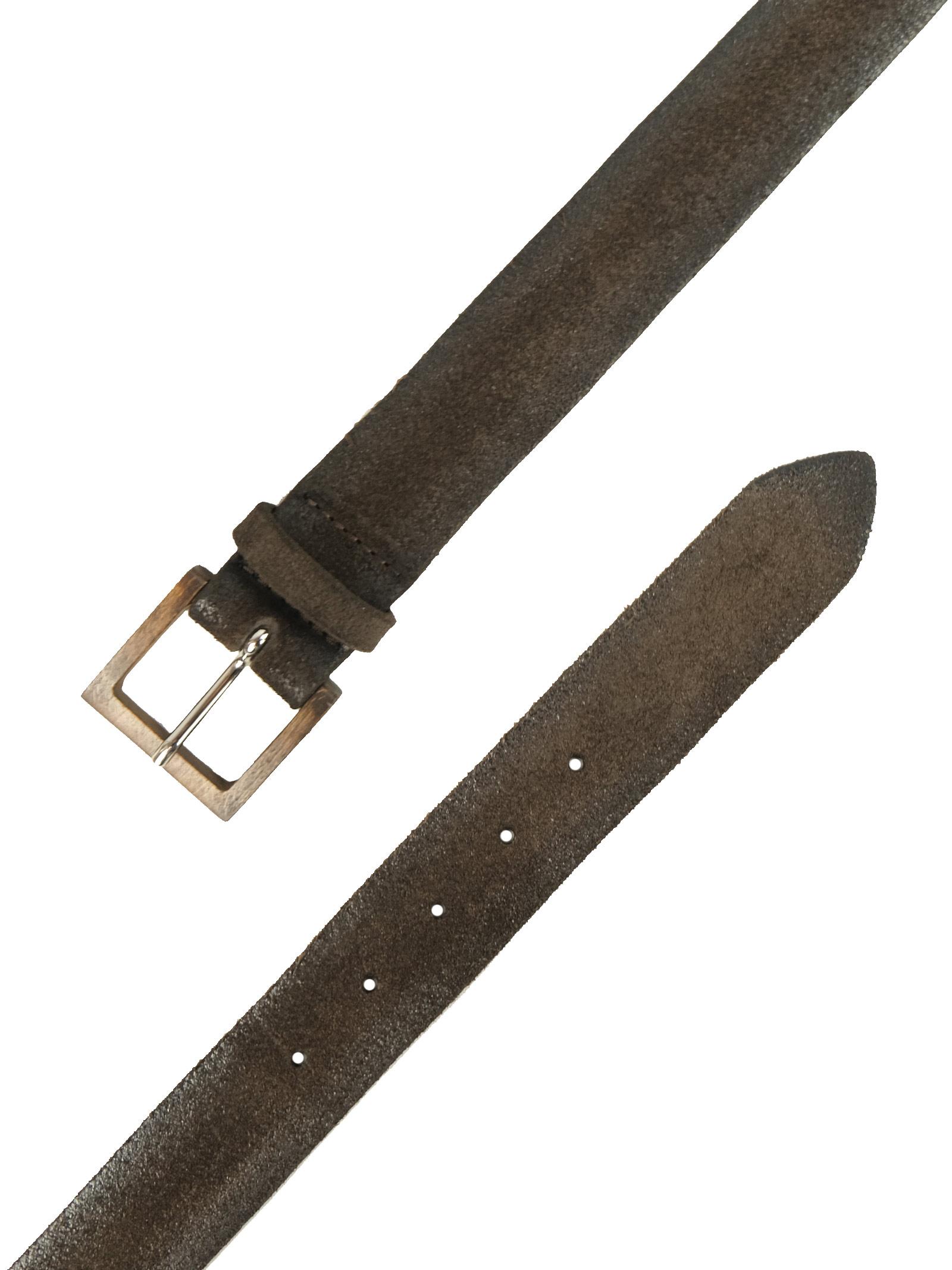 Cintura in camoscio abrasivato con fibbia in legno ORCIANI | Cinture | 8017TMO