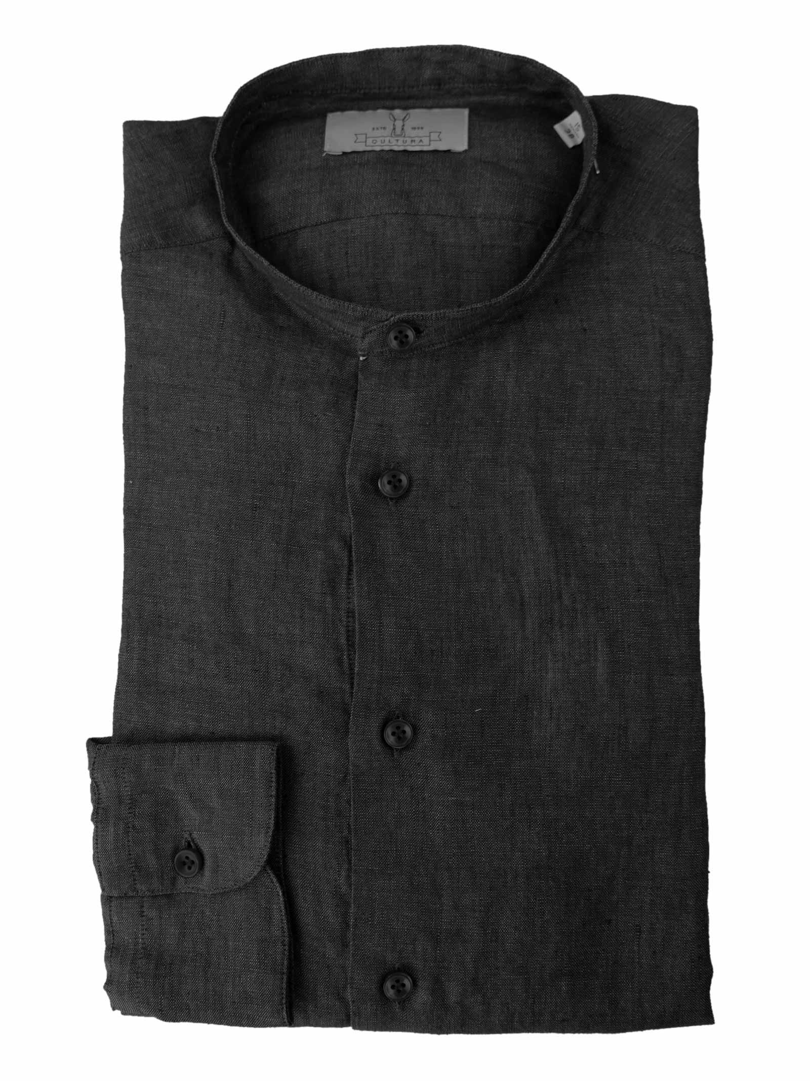 Camicia in lino collo guru Qultura   Camicie   MA21 GURU41