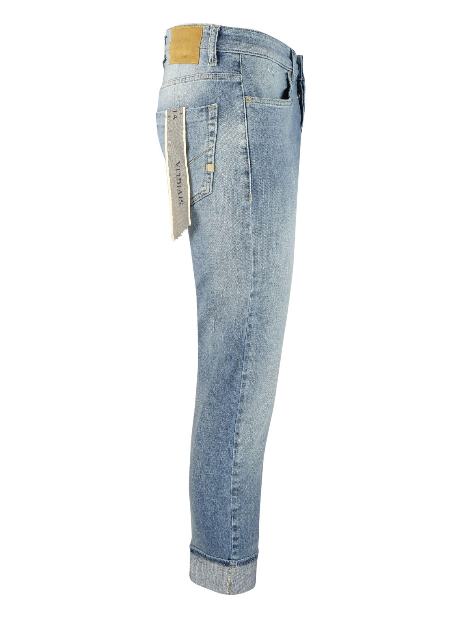 Bleached 10oz. jeans little scratches SIVIGLIA | Jeans | MQ2001 801306003